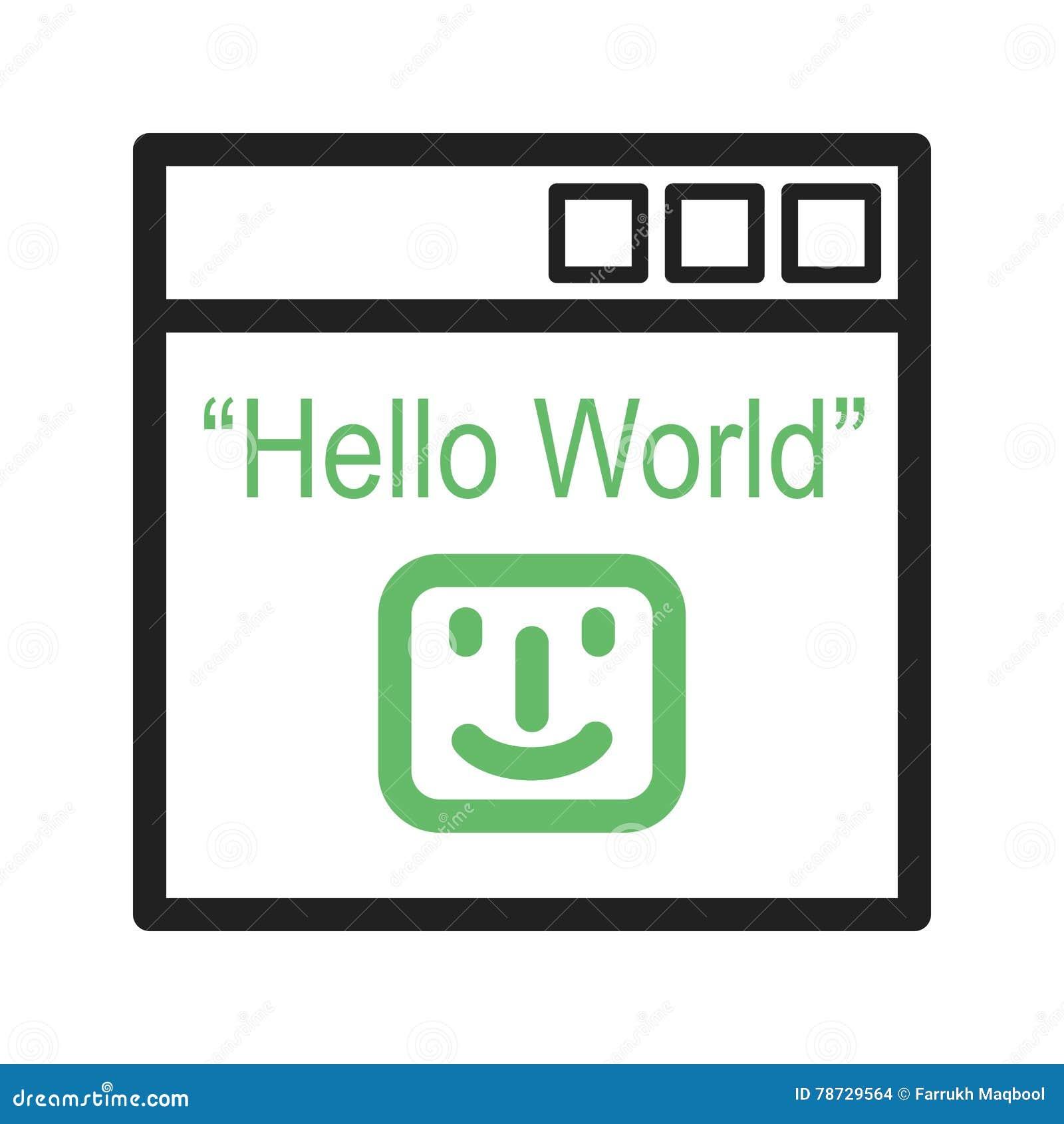 Hello världsprogram