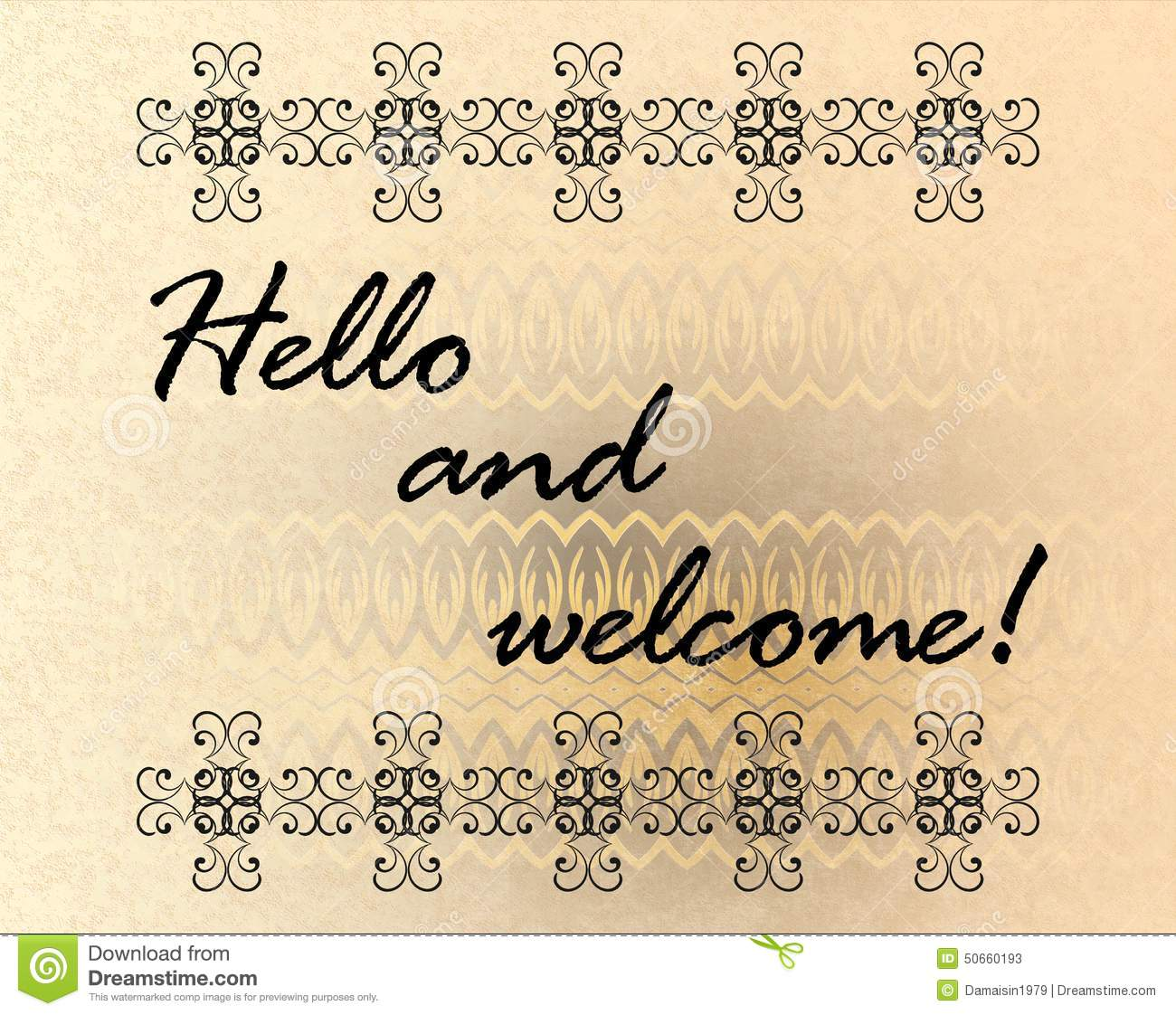 Hello And Welcome Stock Illustration Image 50660193