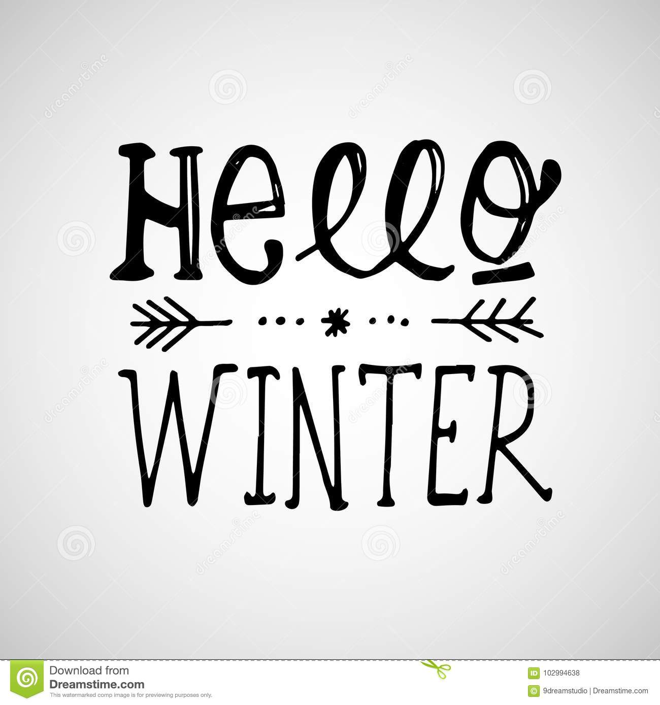 Hello winter handlettering inscription winter logos and emblems for hello winter handlettering inscription winter logos and emblems for invitation greeting card t m4hsunfo