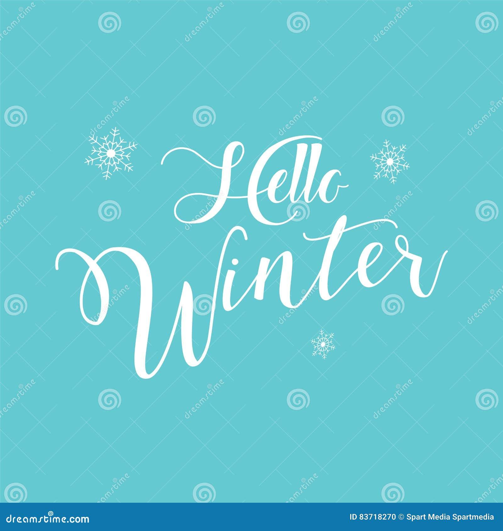Hello Winter Stock Vector