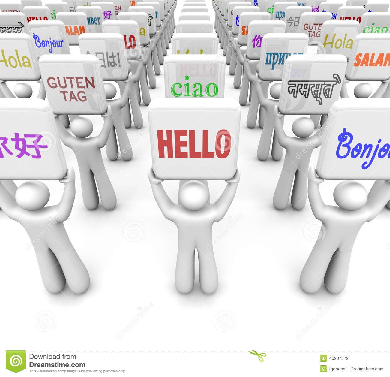 Hello Words Different Languages Greeting World Culture Diversity