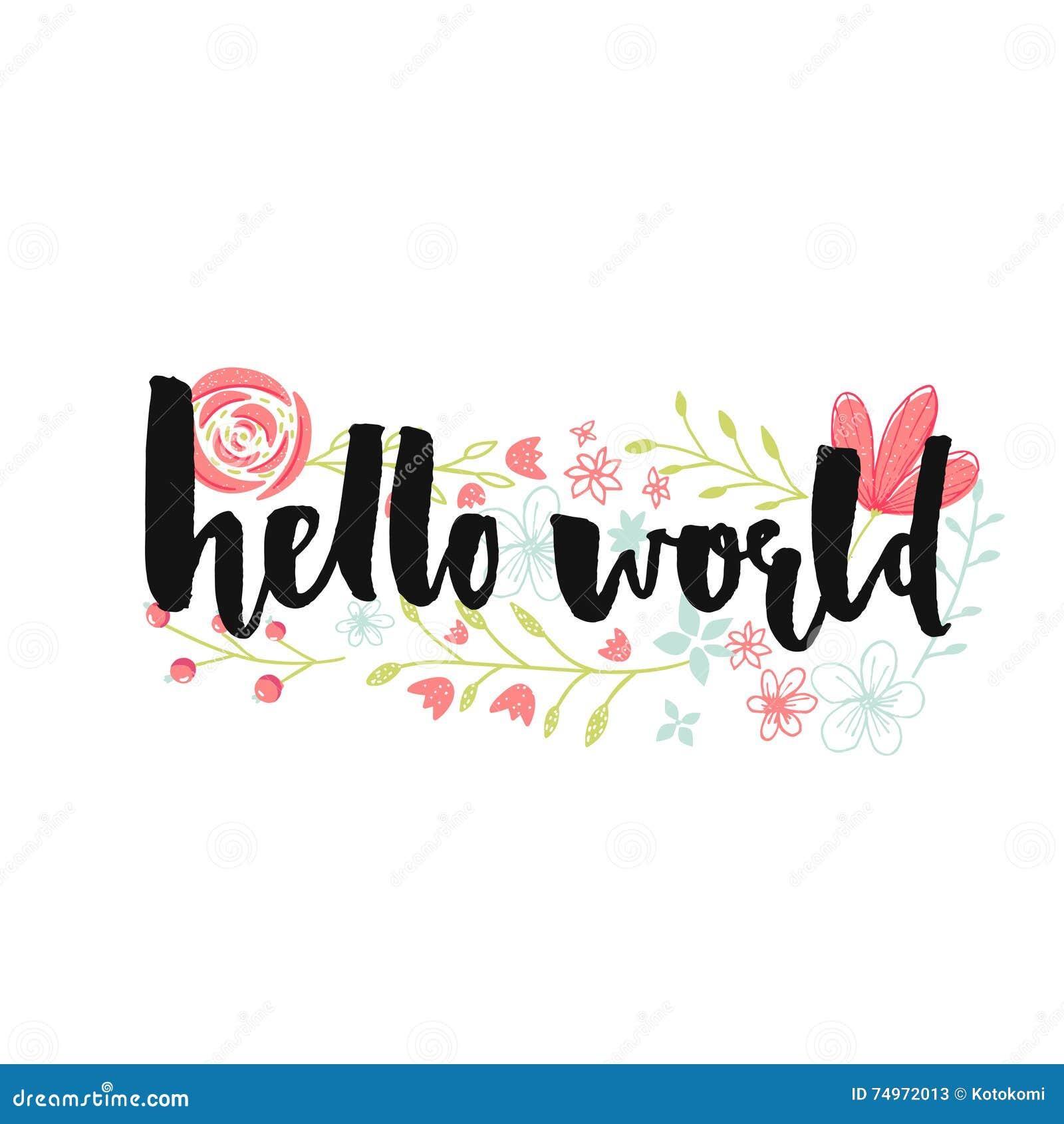 Hello World: Hello World Royalty-Free Stock Photo