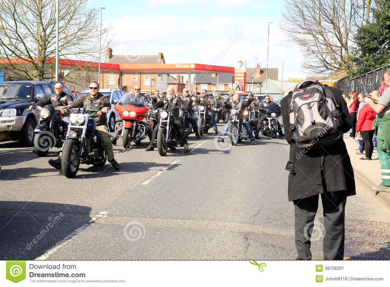 Hells Angels Funeral Procession Editorial Photo - Image of chapter