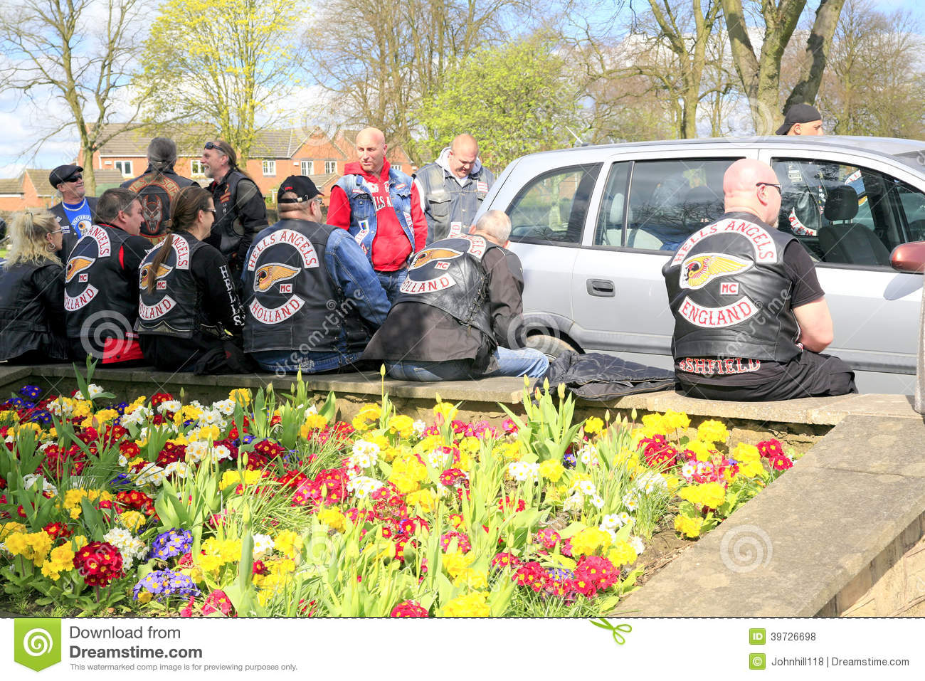 Hells Angels editorial stock photo  Image of sitting - 39726698