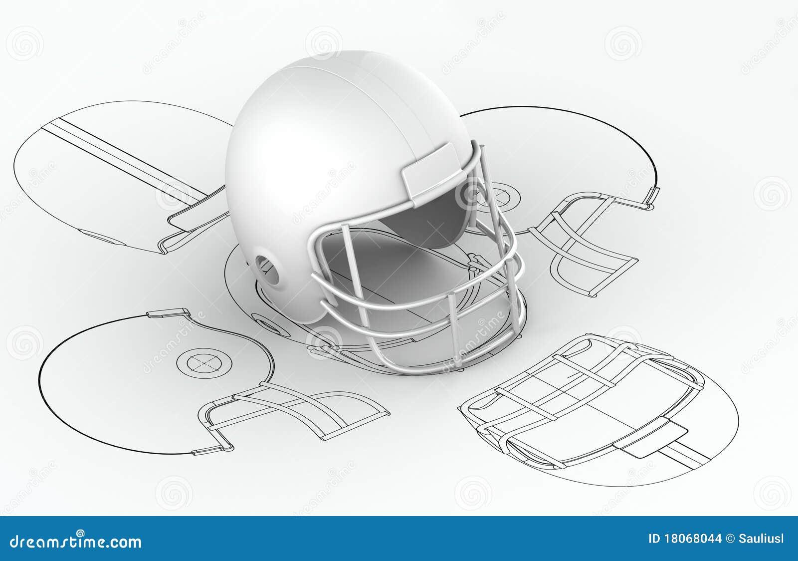 Helmet Charts With 3d Model Stock Illustration