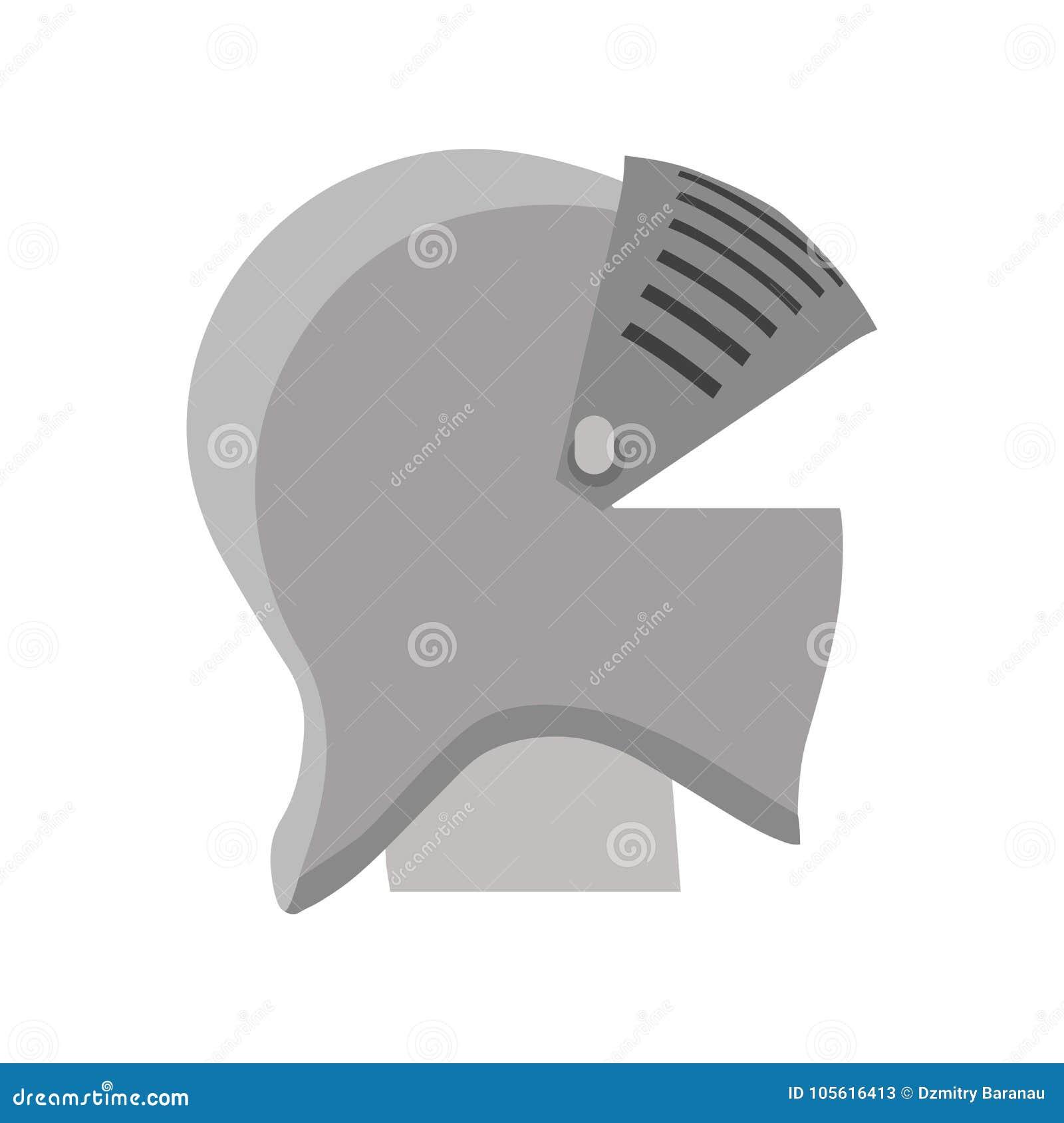 Helmet Knight Vector Armor Medieval Illustration Isolated. Shield ...