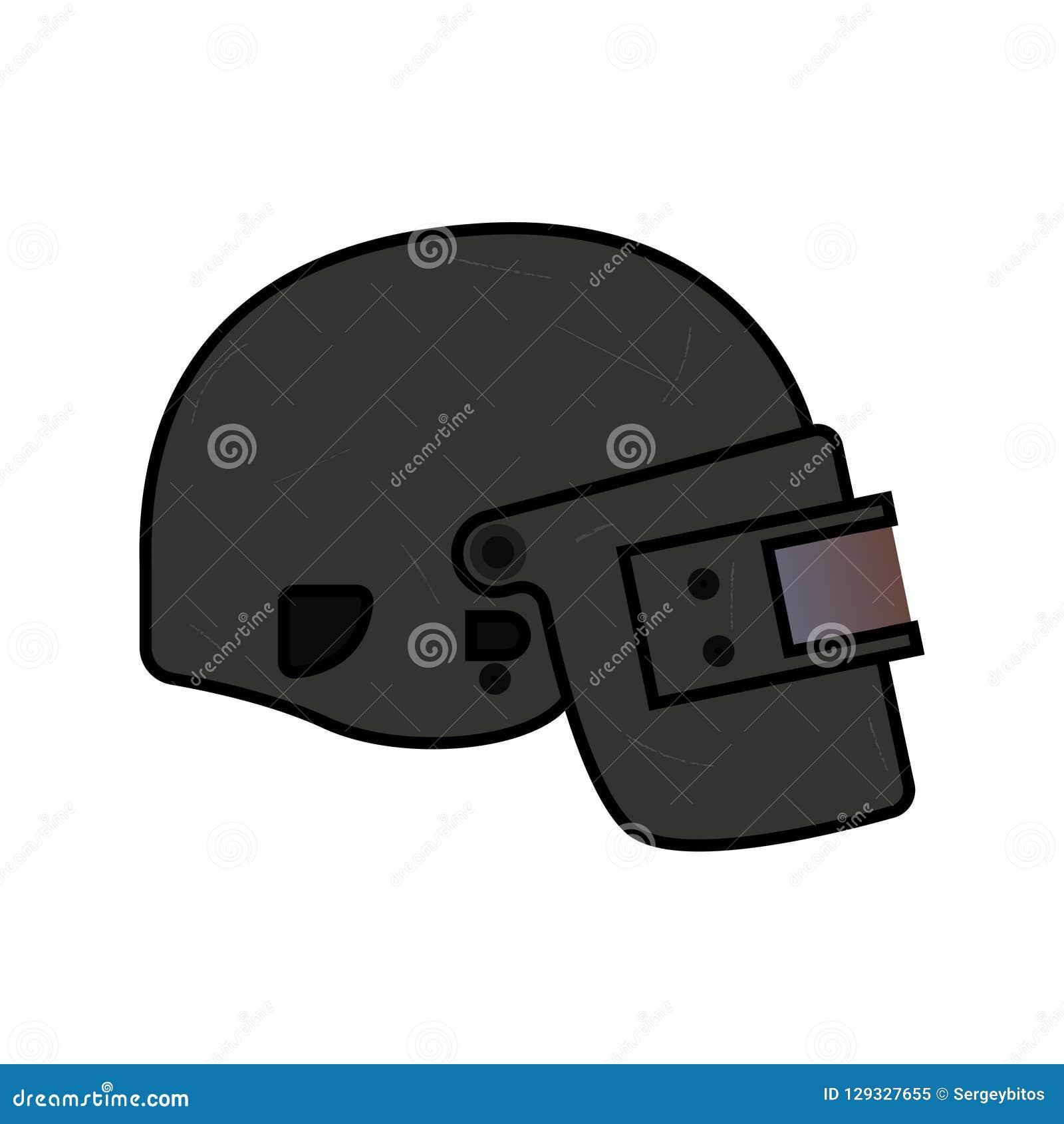 Helmet Level 3, from PUBG stock vector  Illustration of