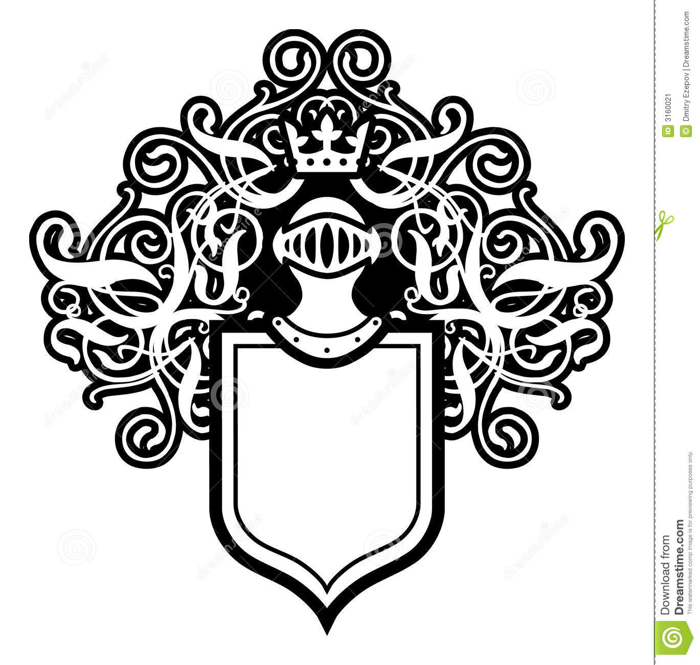 Blank Coat Of Arms Coloring Page