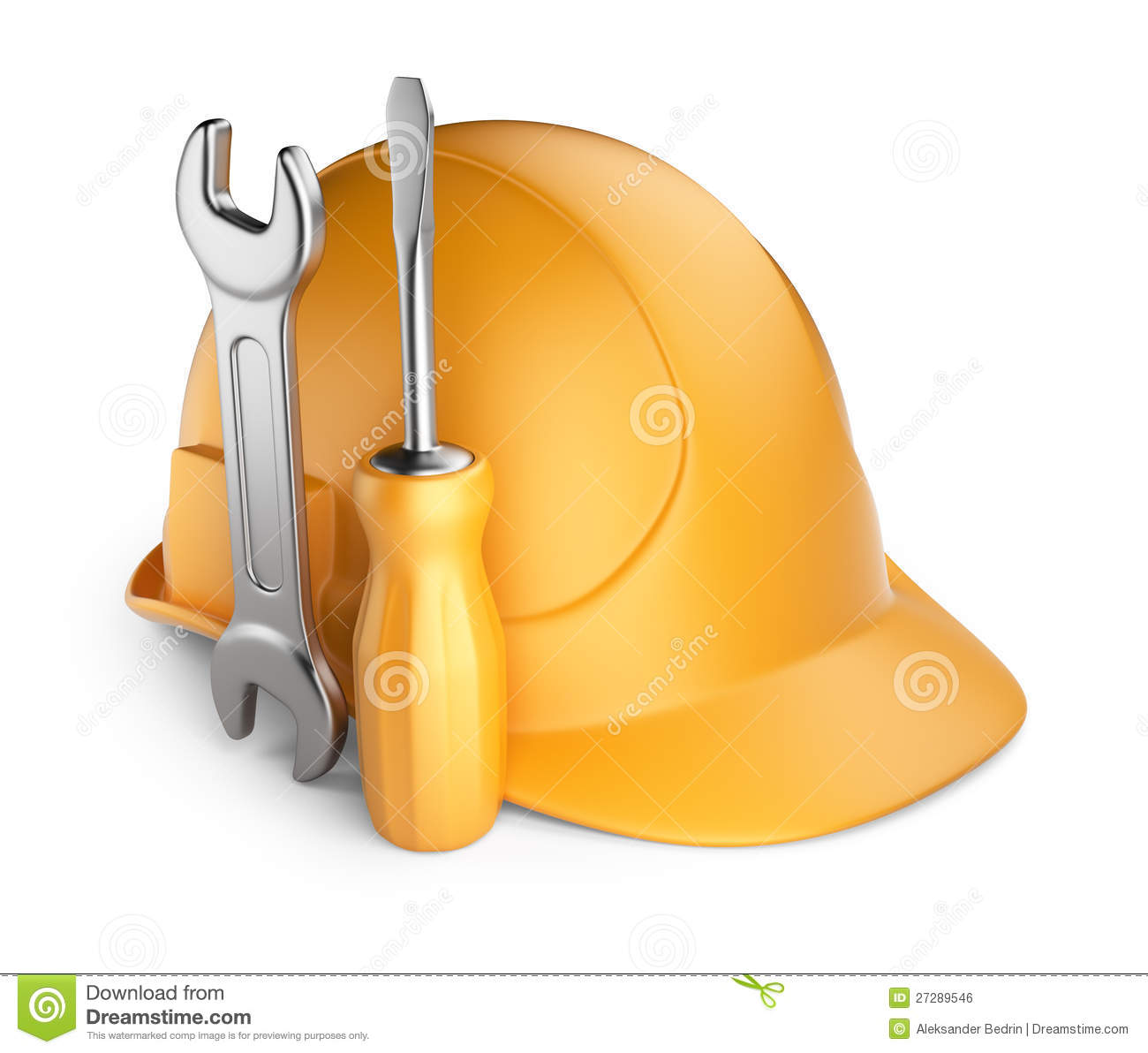 Helmet And Tools 3d Icon Royalty Free Stock Image Image