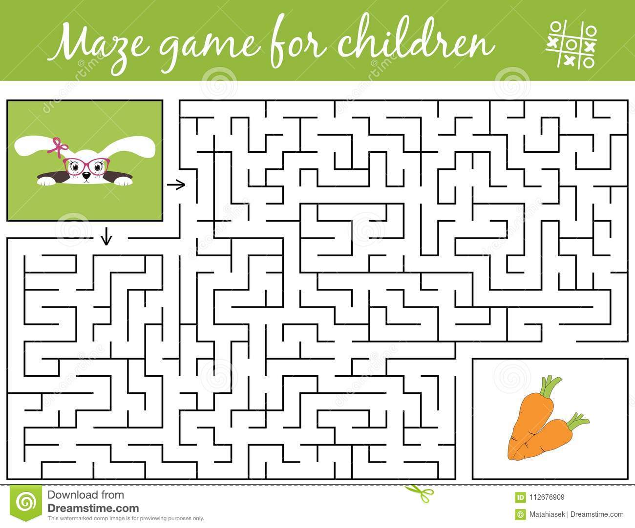 help bunny girl find path to carrots through the labyrinth maze