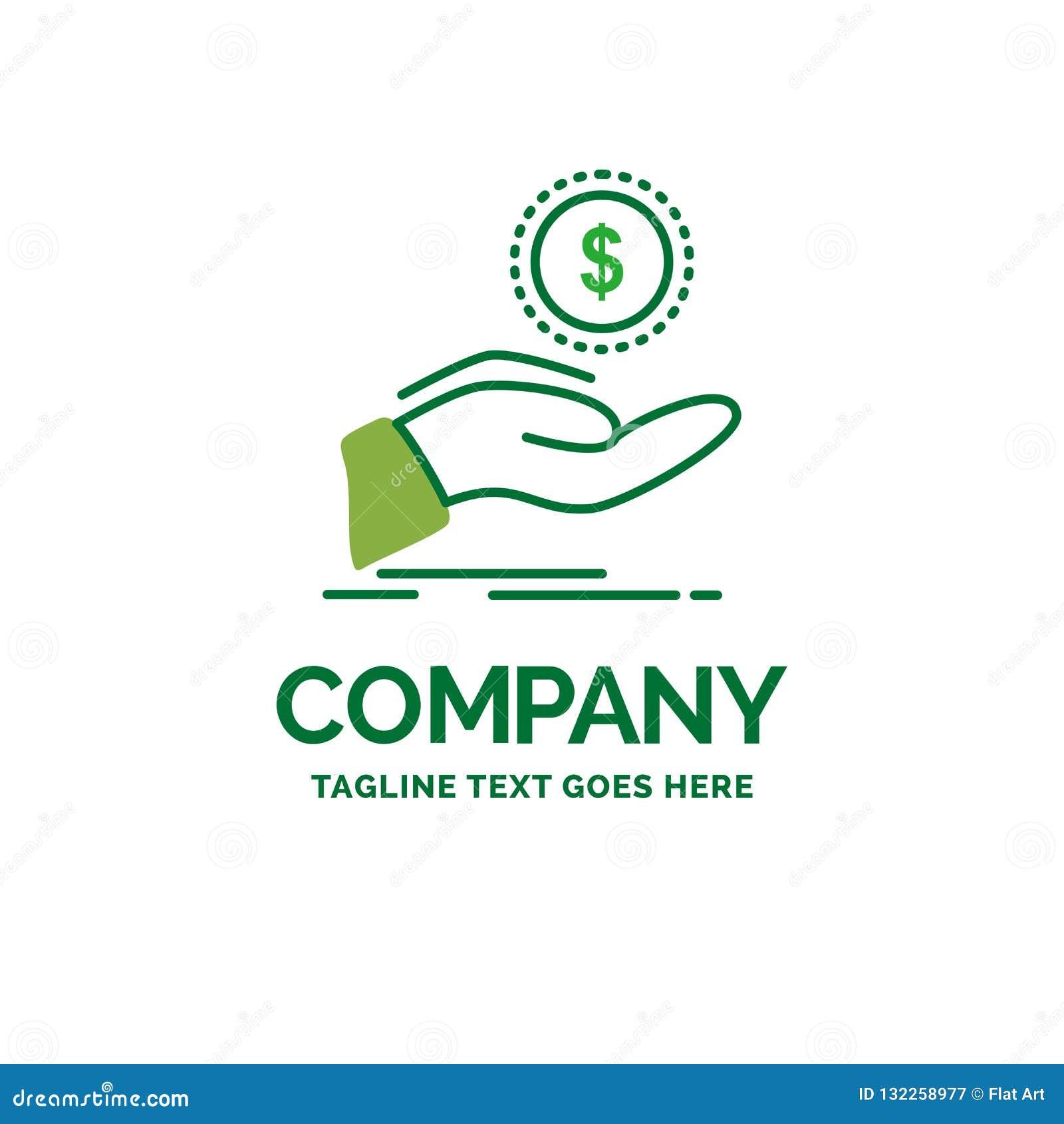 Help, Cash Out, Debt, Finance, Loan Flat Business Logo ...