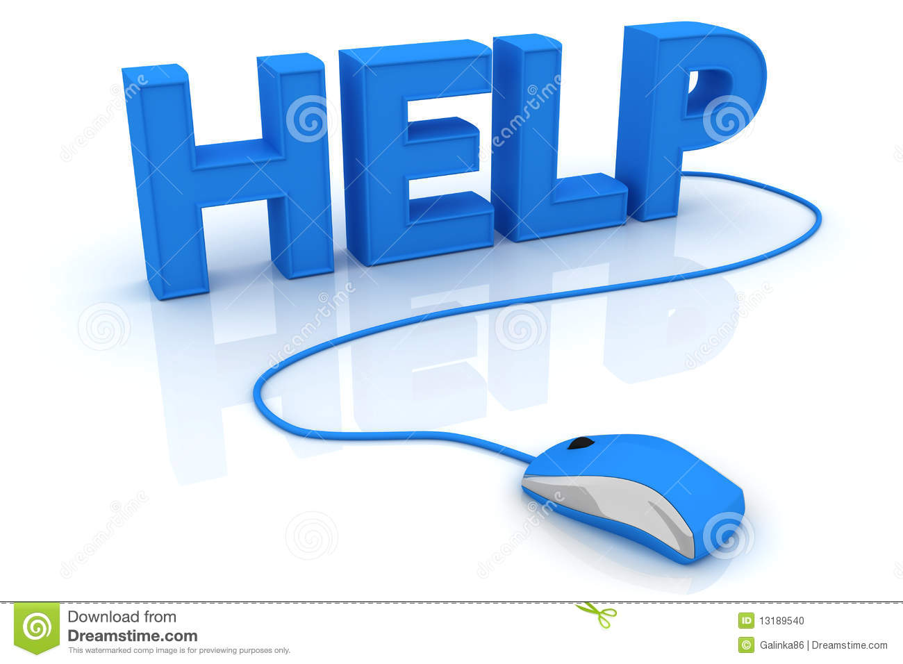 Help With Computer Mouse Stock Photo - Image: 13189540