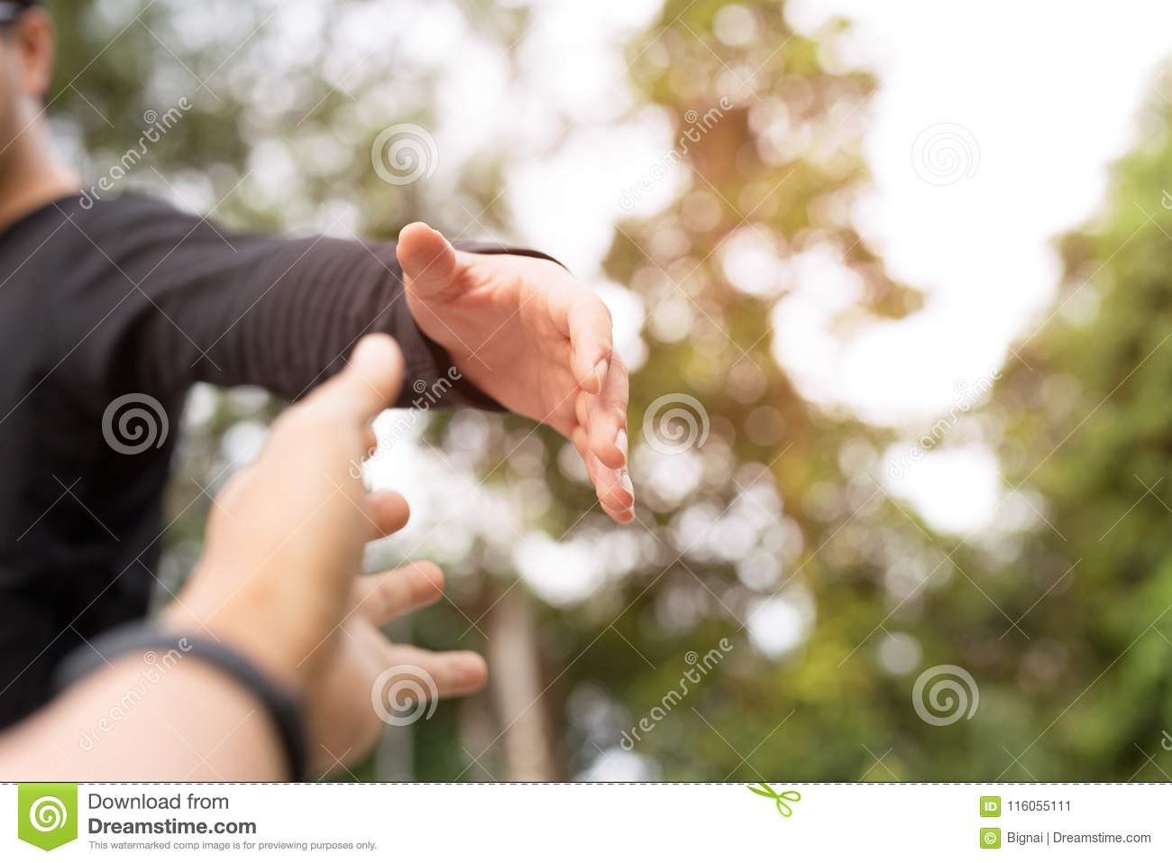 Help Concept Hands reaching out to help each other