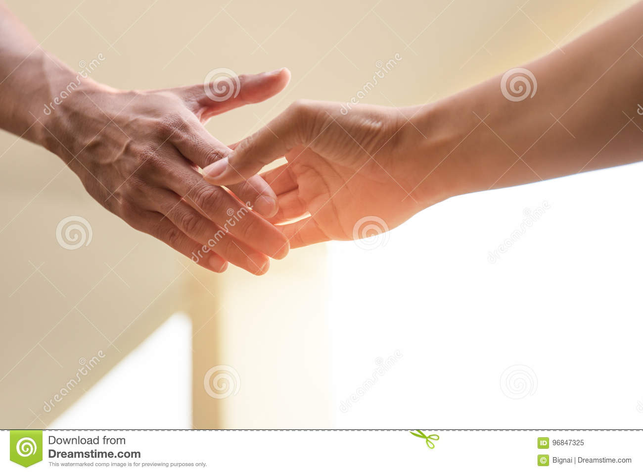 Help Concept Hands reaching out to help together