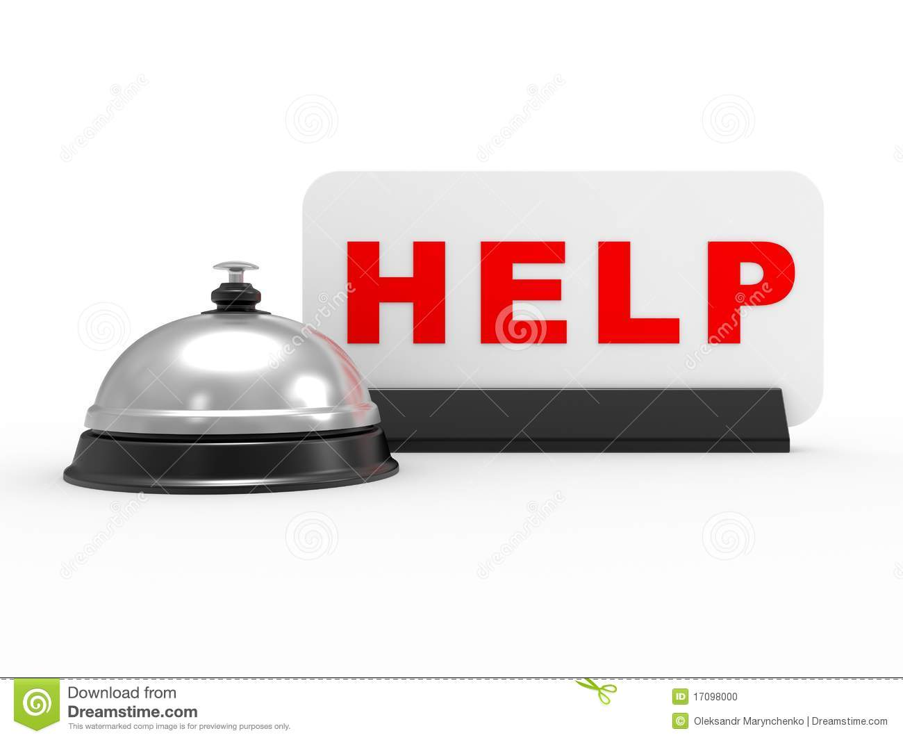 Help desk managed by a little white man with headset, white background ...