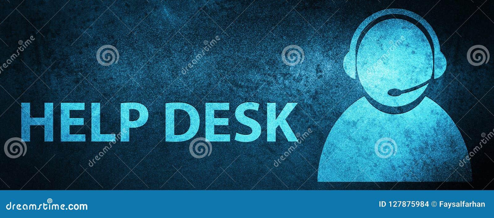 Help Desk Customer Care Icon Special Blue Banner Background Stock Illustration Illustration Of Help Care 127875984