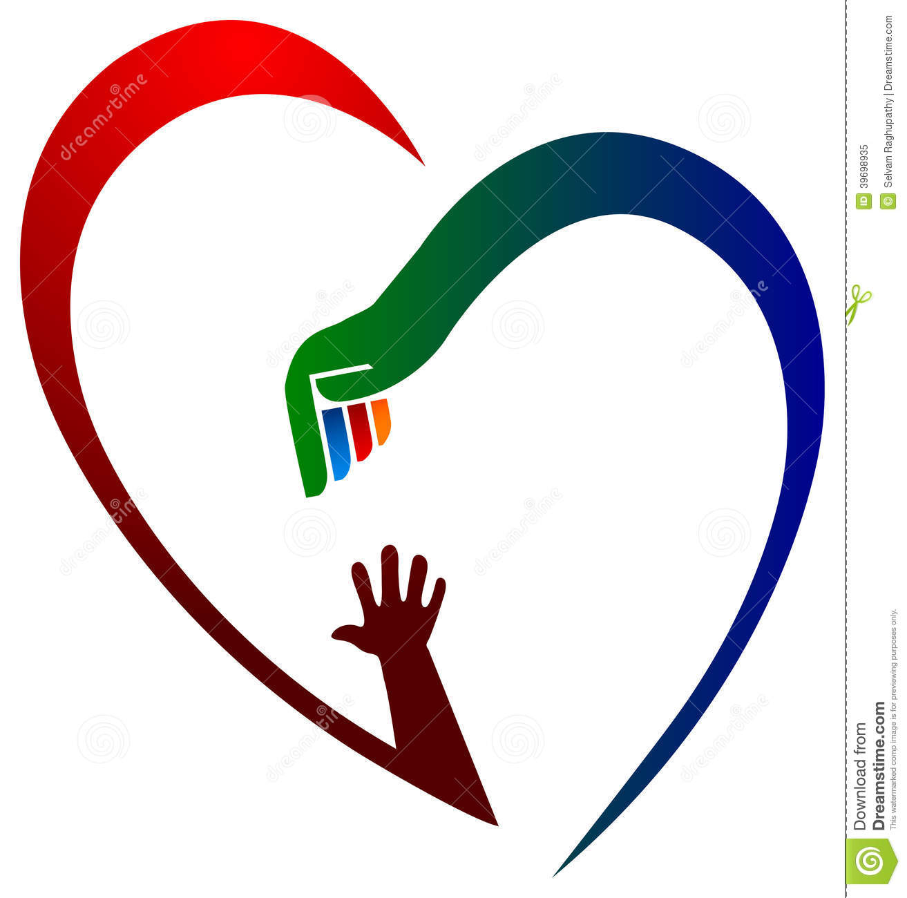 help heart stock vector image 39698935
