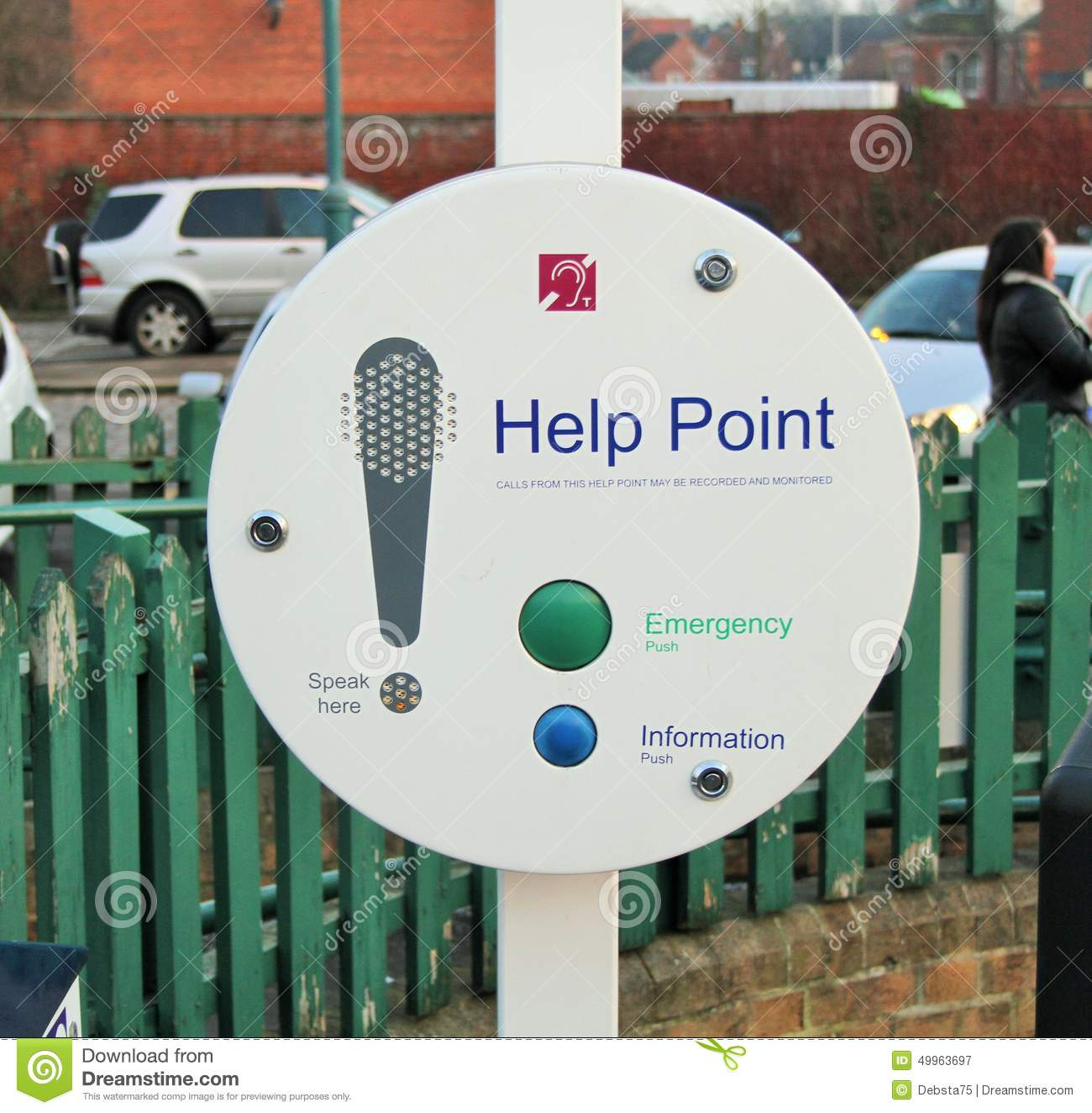 Help Point Stock Photo Image 49963697