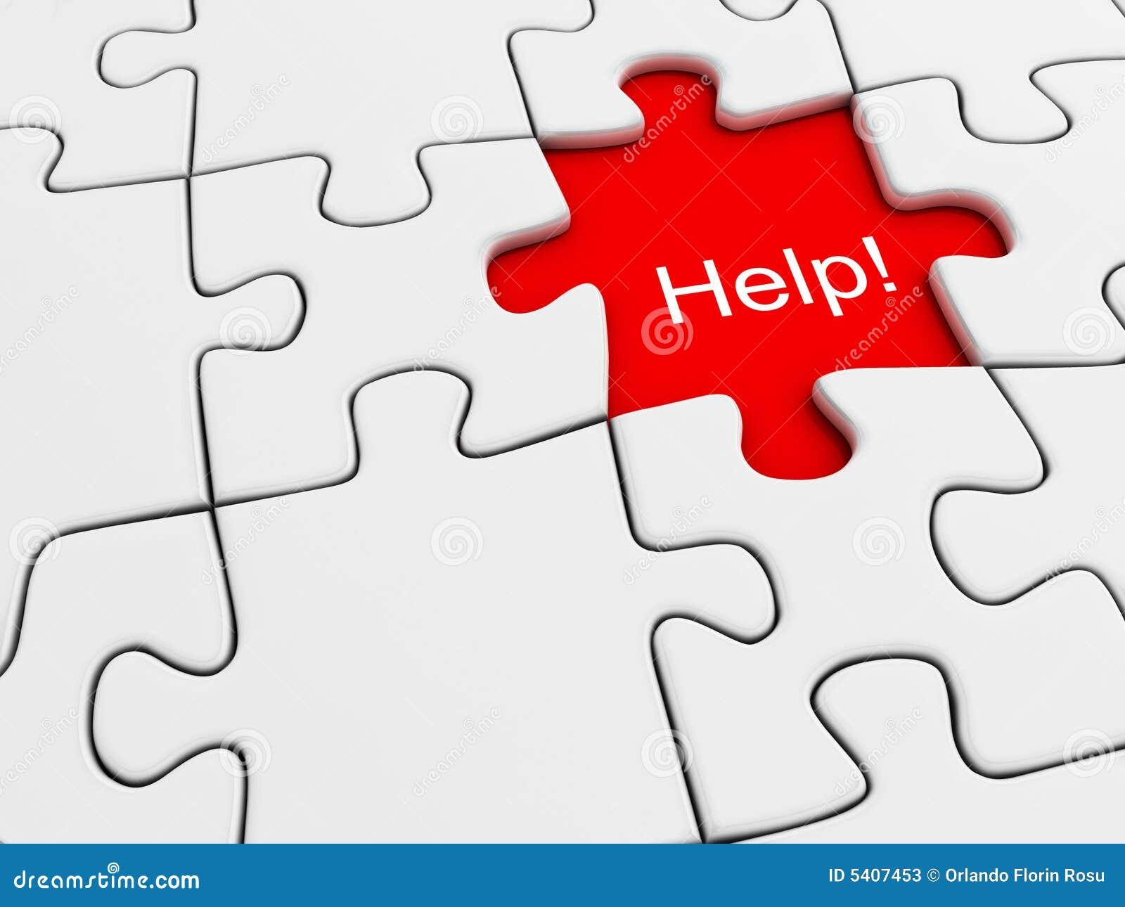 Help Puzzle Stock Photos - Image: 5407453
