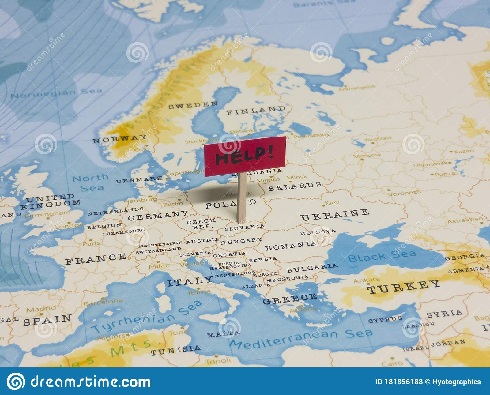 Picture of: Help Sign With Pole On Slovakia Of The World Map Stock Photo Image Of Covid Economic 181856188