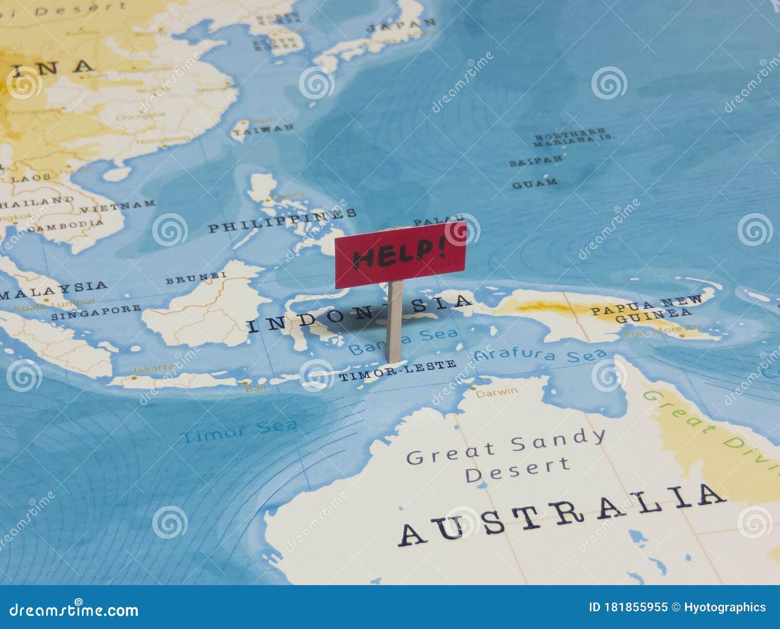 Timor Sea World Map