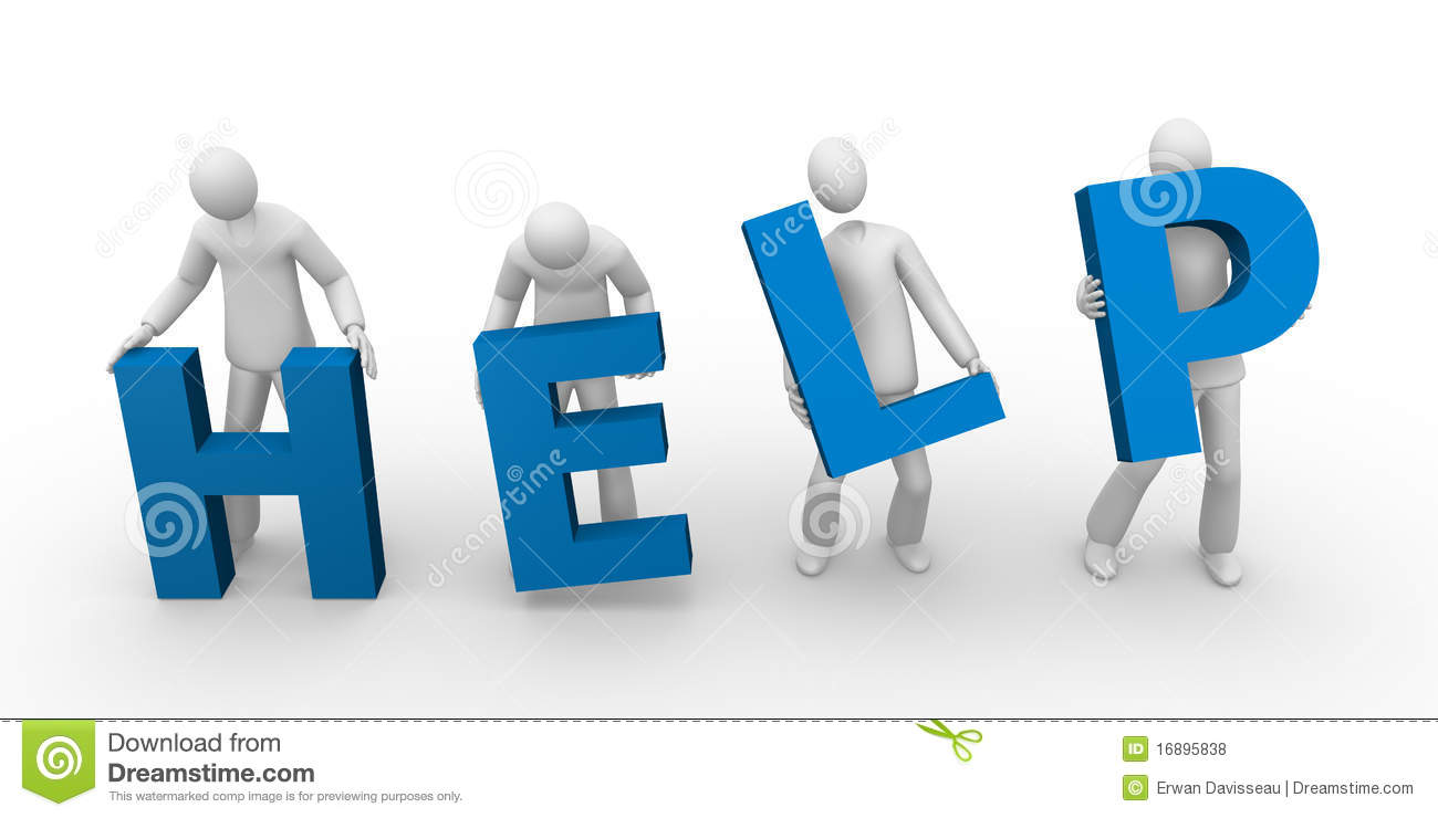 Help Text Holding By Men Royalty Free Stock Photos - Image ...