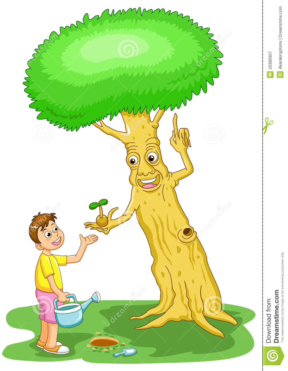 help the tree save the world stock vector illustration of hold