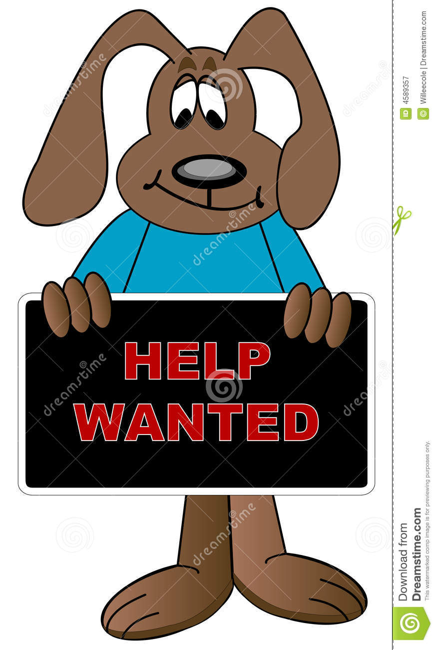 Help Wanted Cartoon Royalty Free Stock Photography Image
