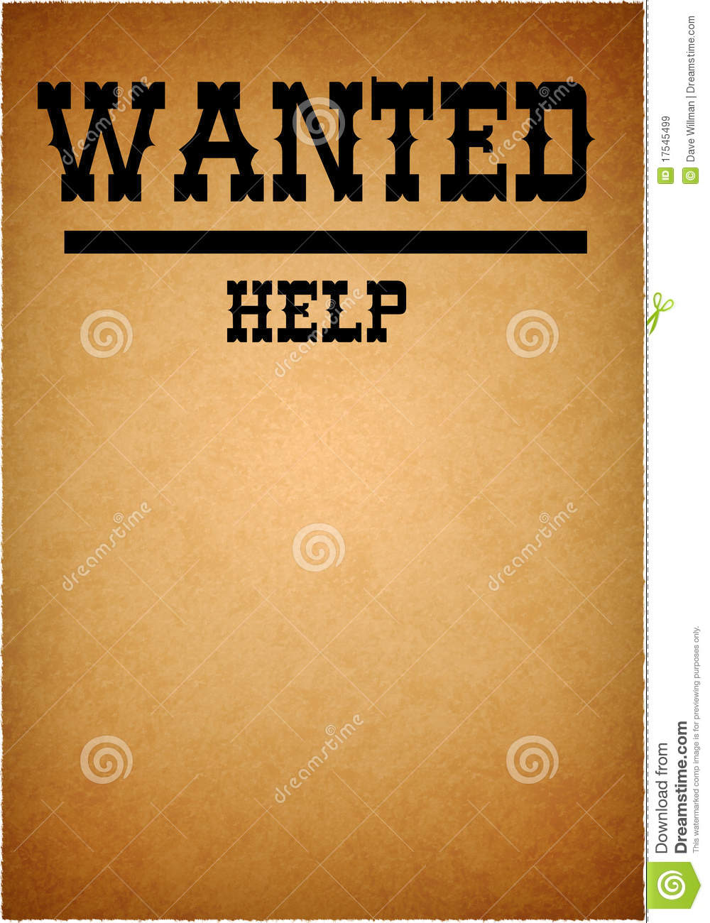 Help Wanted Grunge Poster Royalty Free Stock Images - Image: 17545499