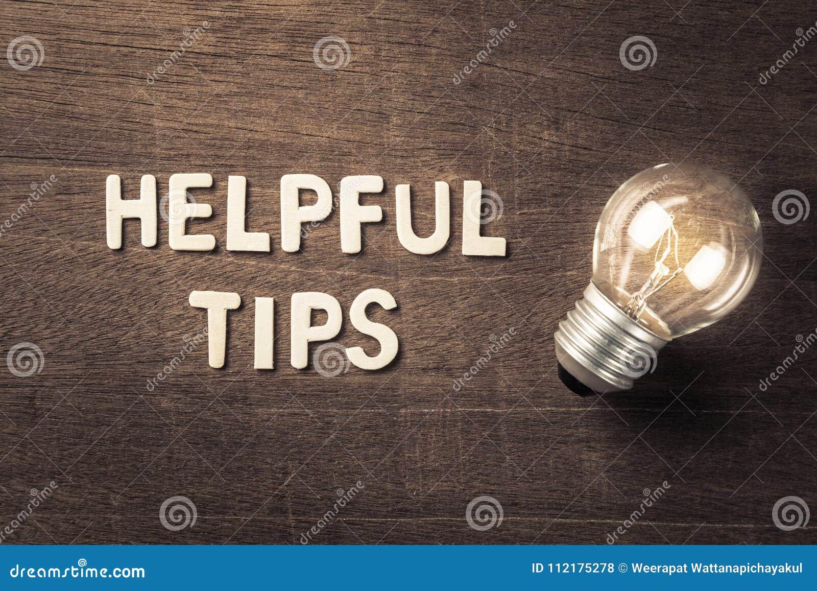 Helpful Tips Idea