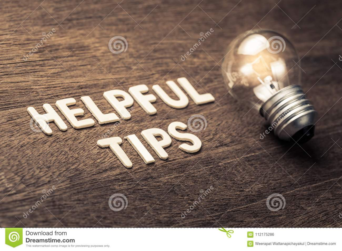 Helpful Tips Idea stock photo  Image of helpful, letters - 112175286