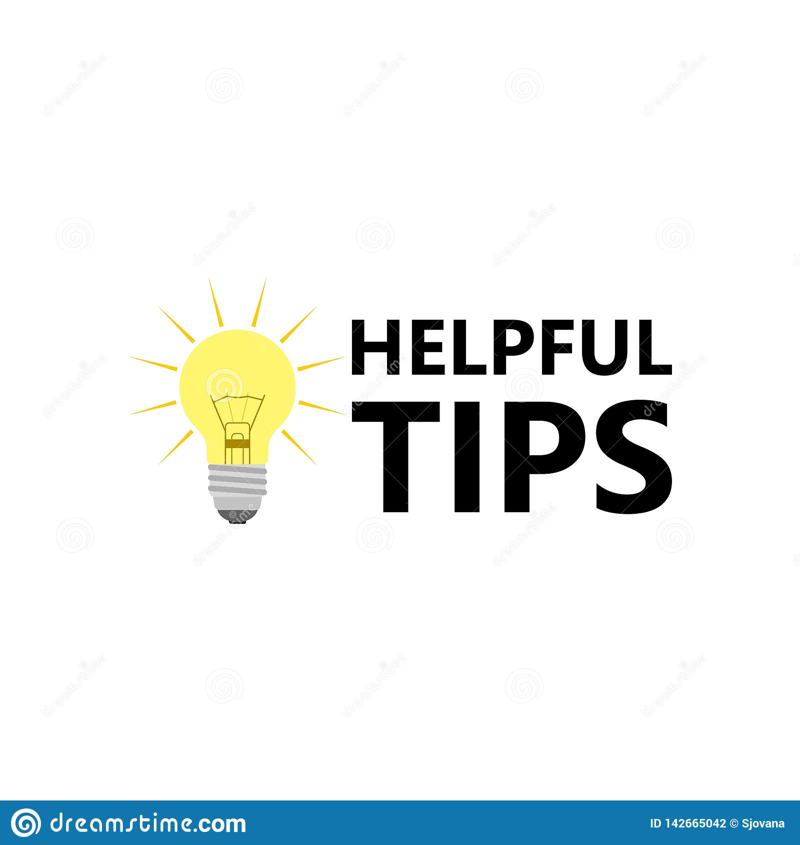 Modern helpful tips composition with flat design Vector