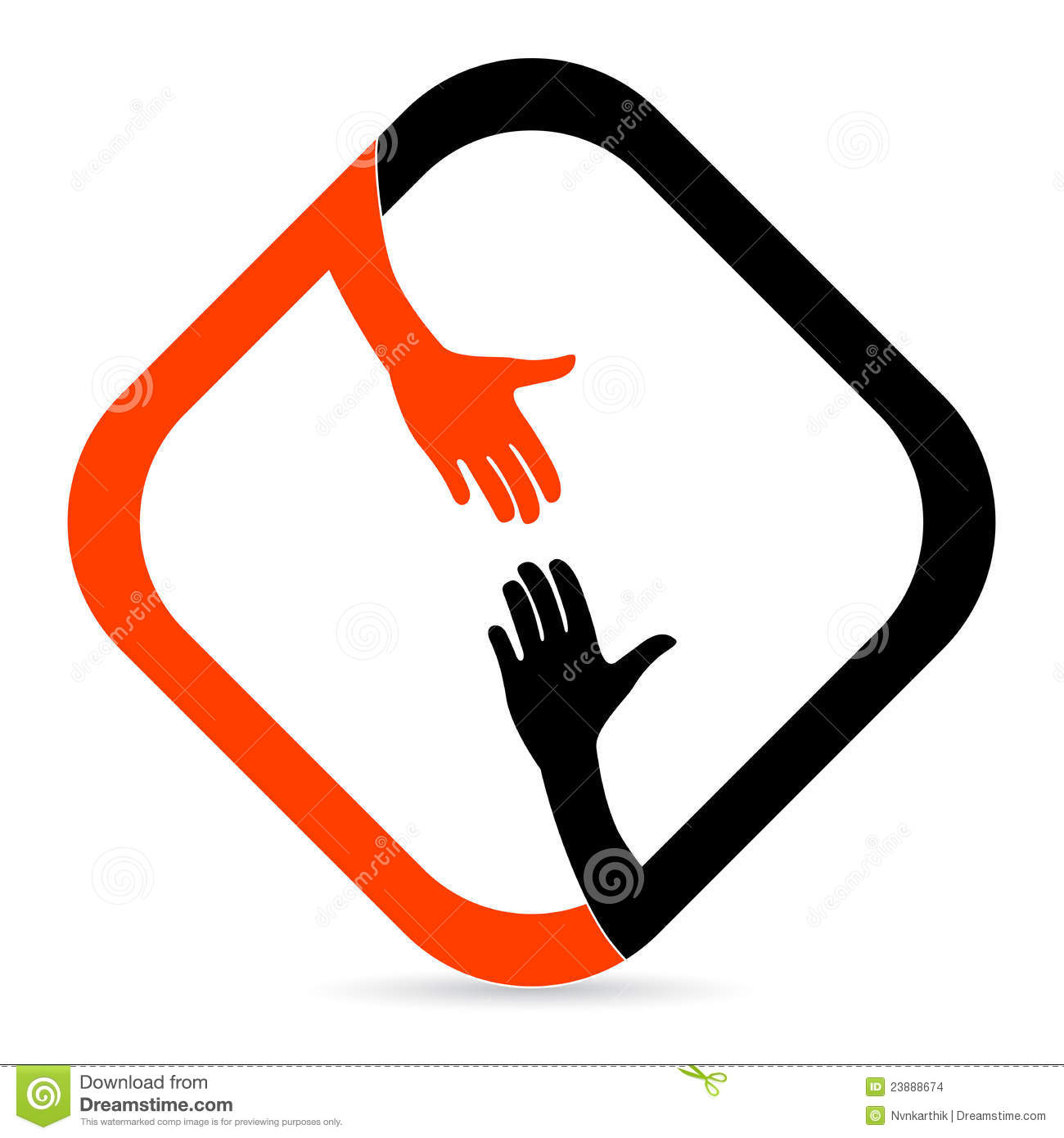 helping hand stock vector illustration of couple contract 23888674 rh dreamstime com helping hand clip art free helping hands clip art pictures