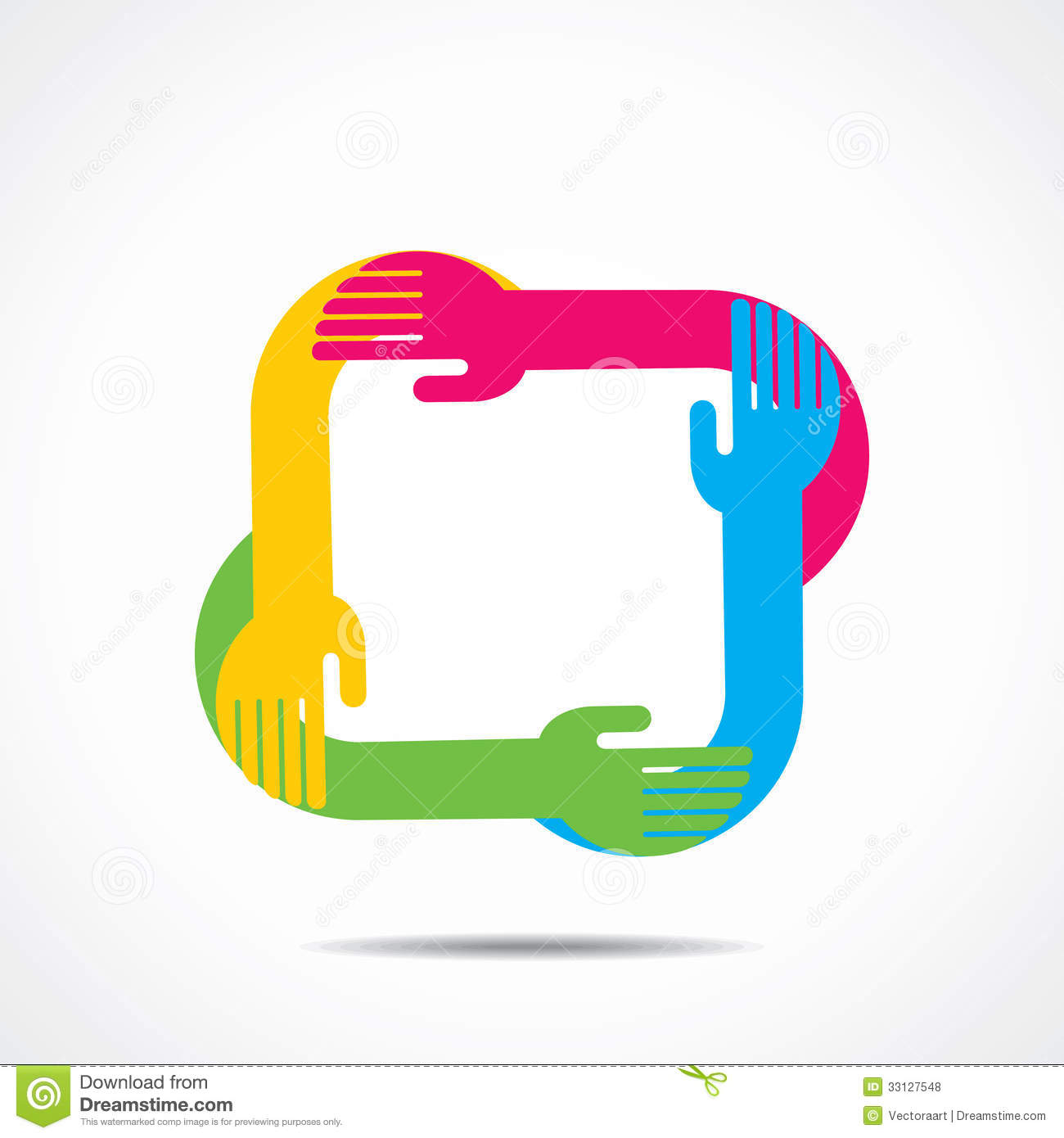 Colorful helping hand icon Helping Hand Icon