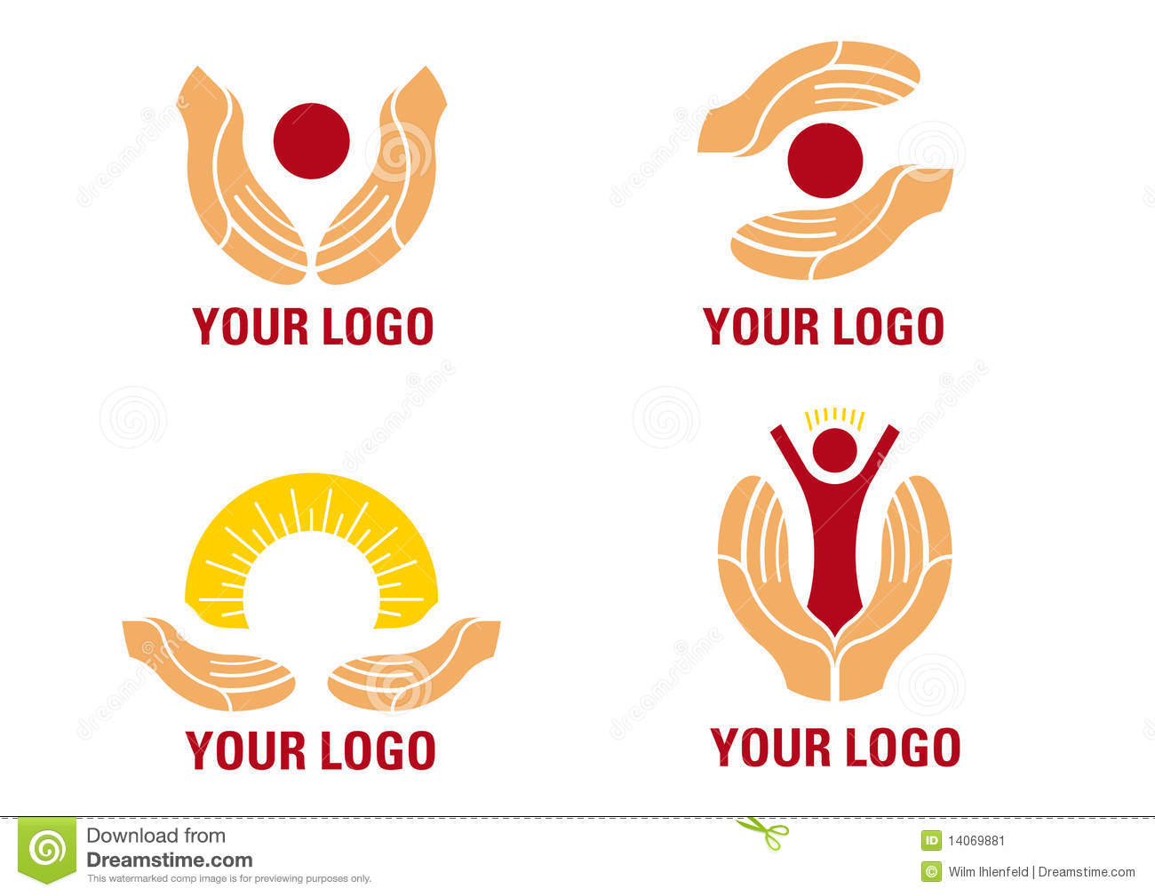 Helping hands Logo stock vector. Illustration of graphic ...