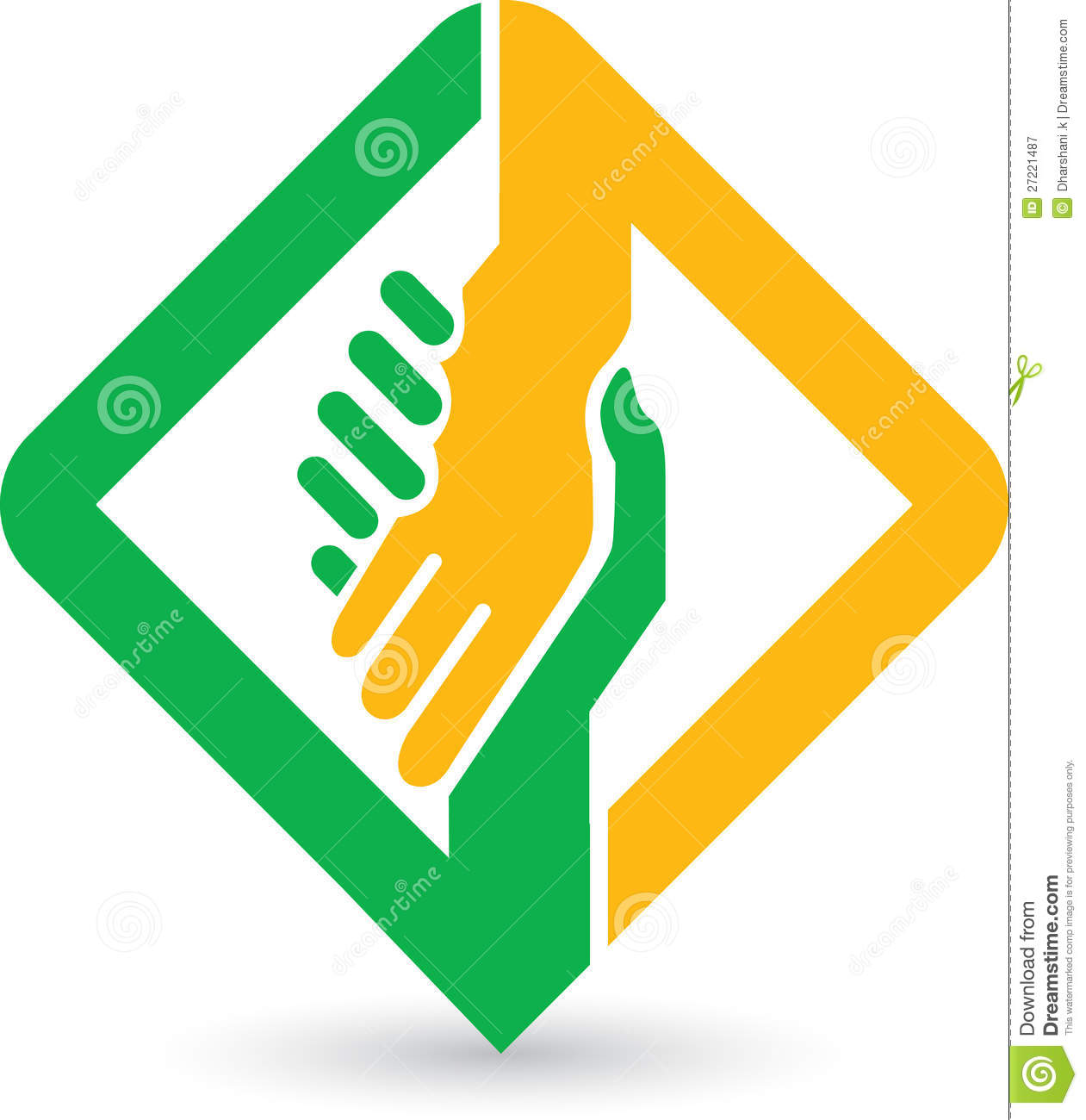 Helping hands logo Royalty Helping Hand Icon