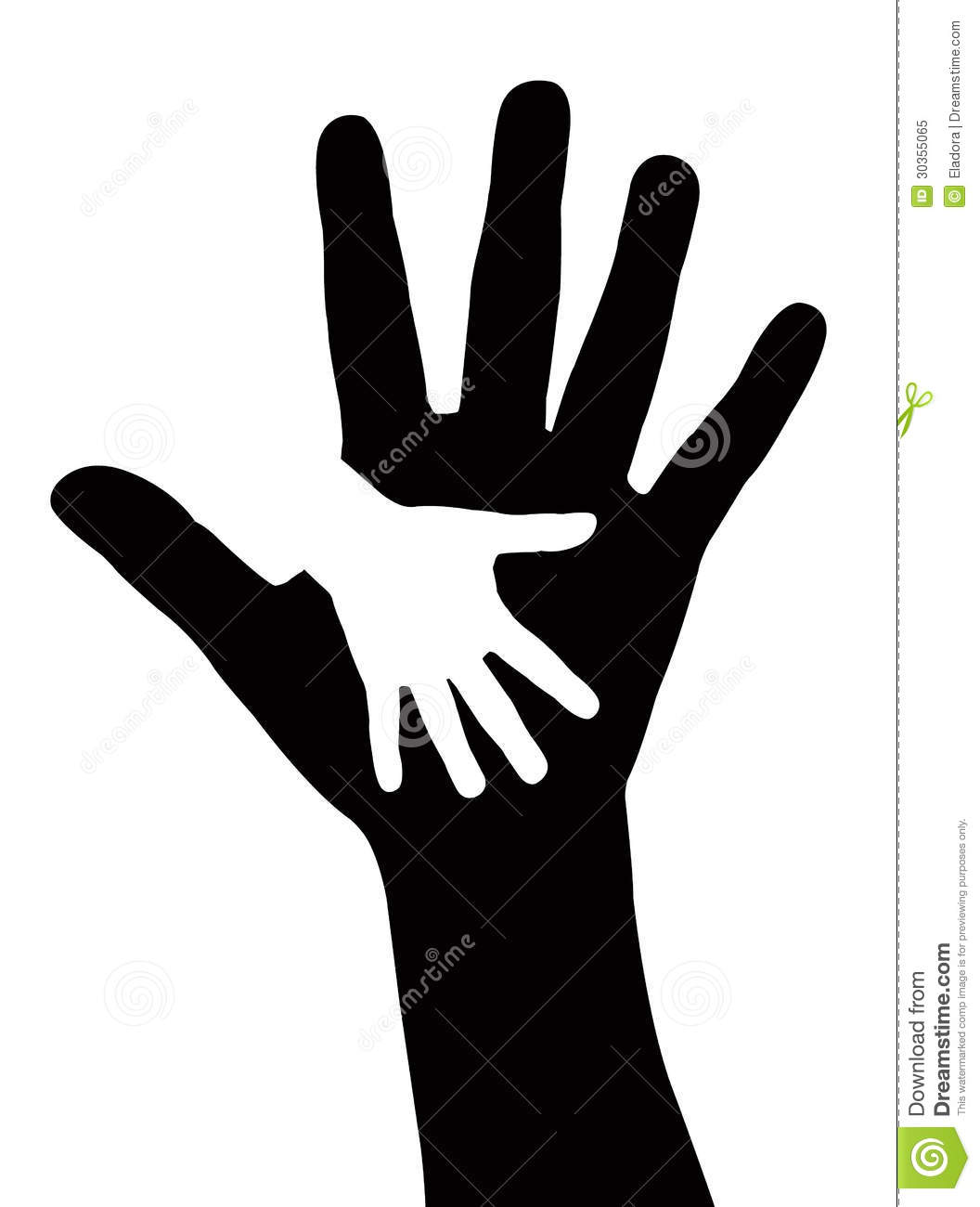 Helping hands vector stock vector. Image of illustration ...