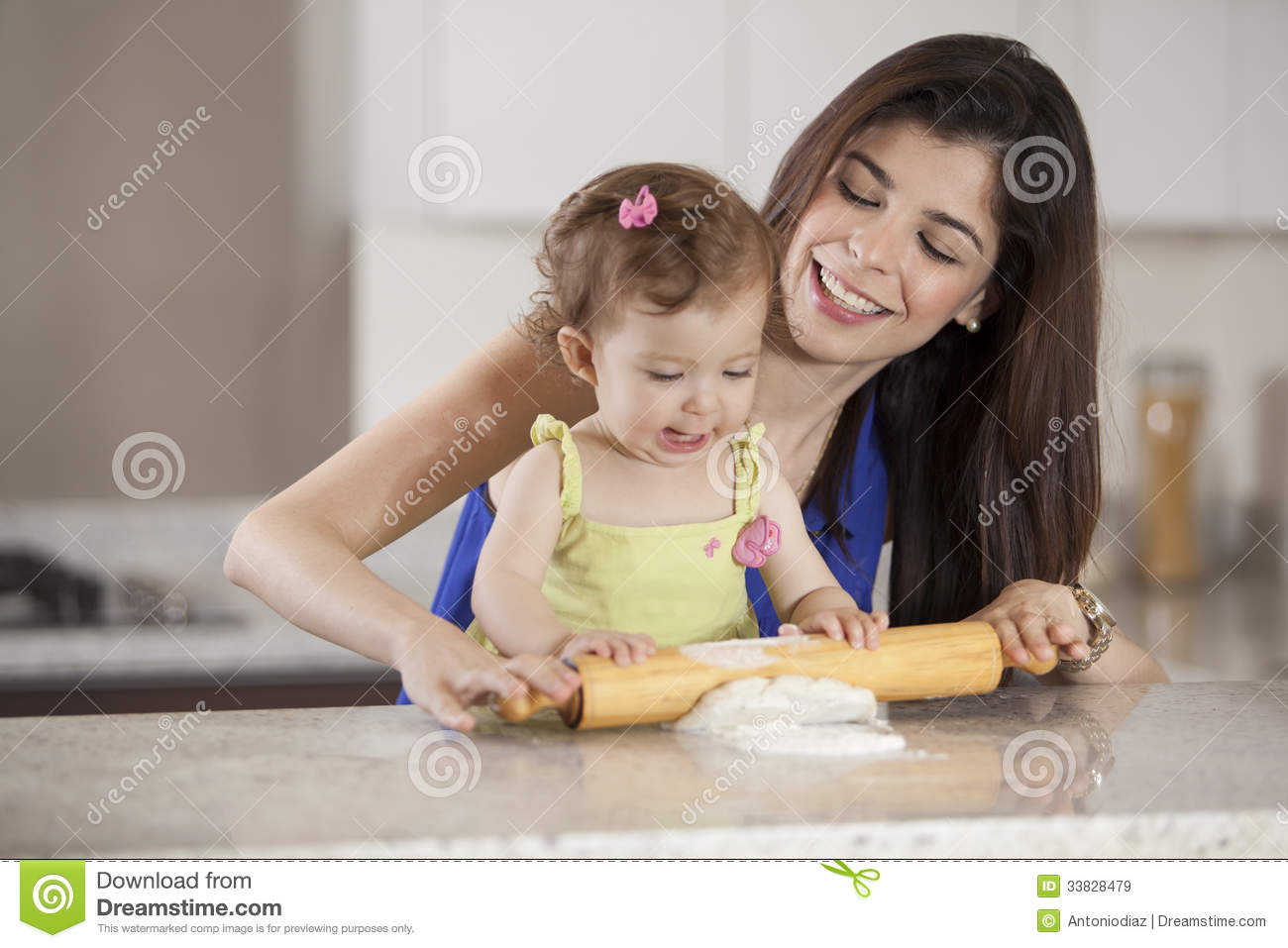 Helping Mom Cook Dinner Royalty Free Stock Images Image