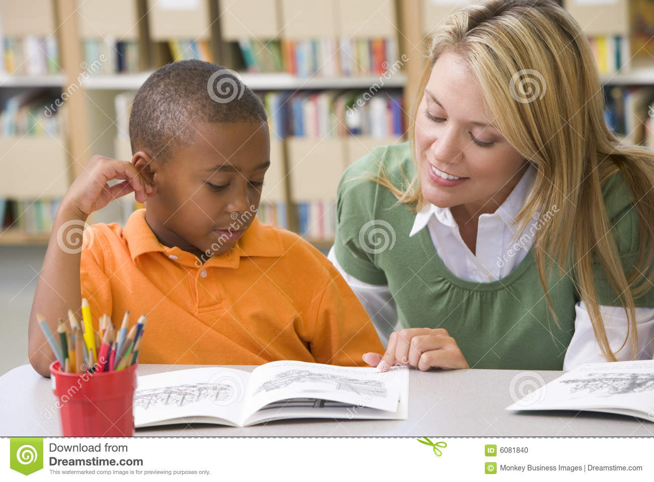 Helping reading skills student teacher