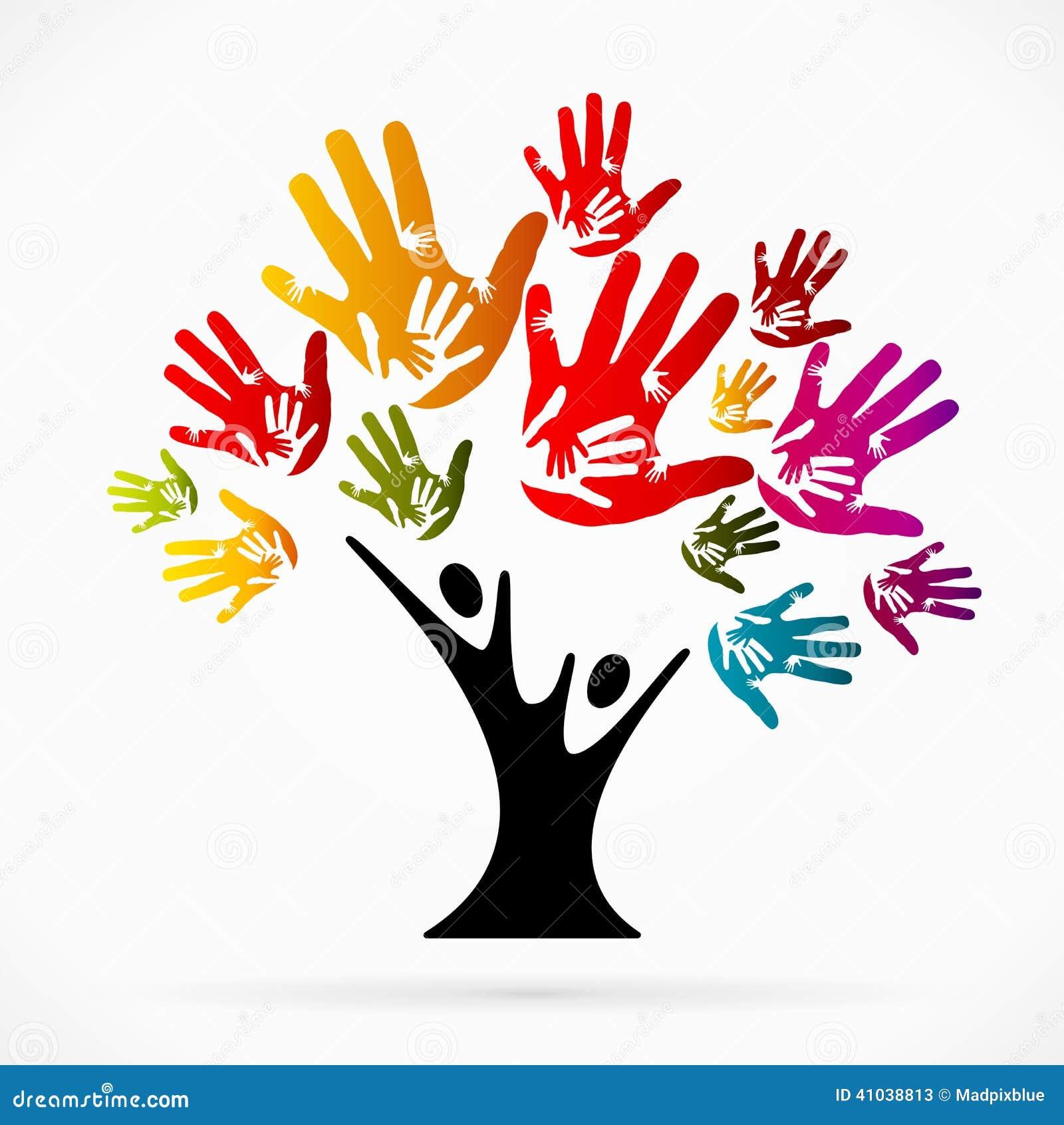 Helping Tree Stock Vector - Image: 41038813