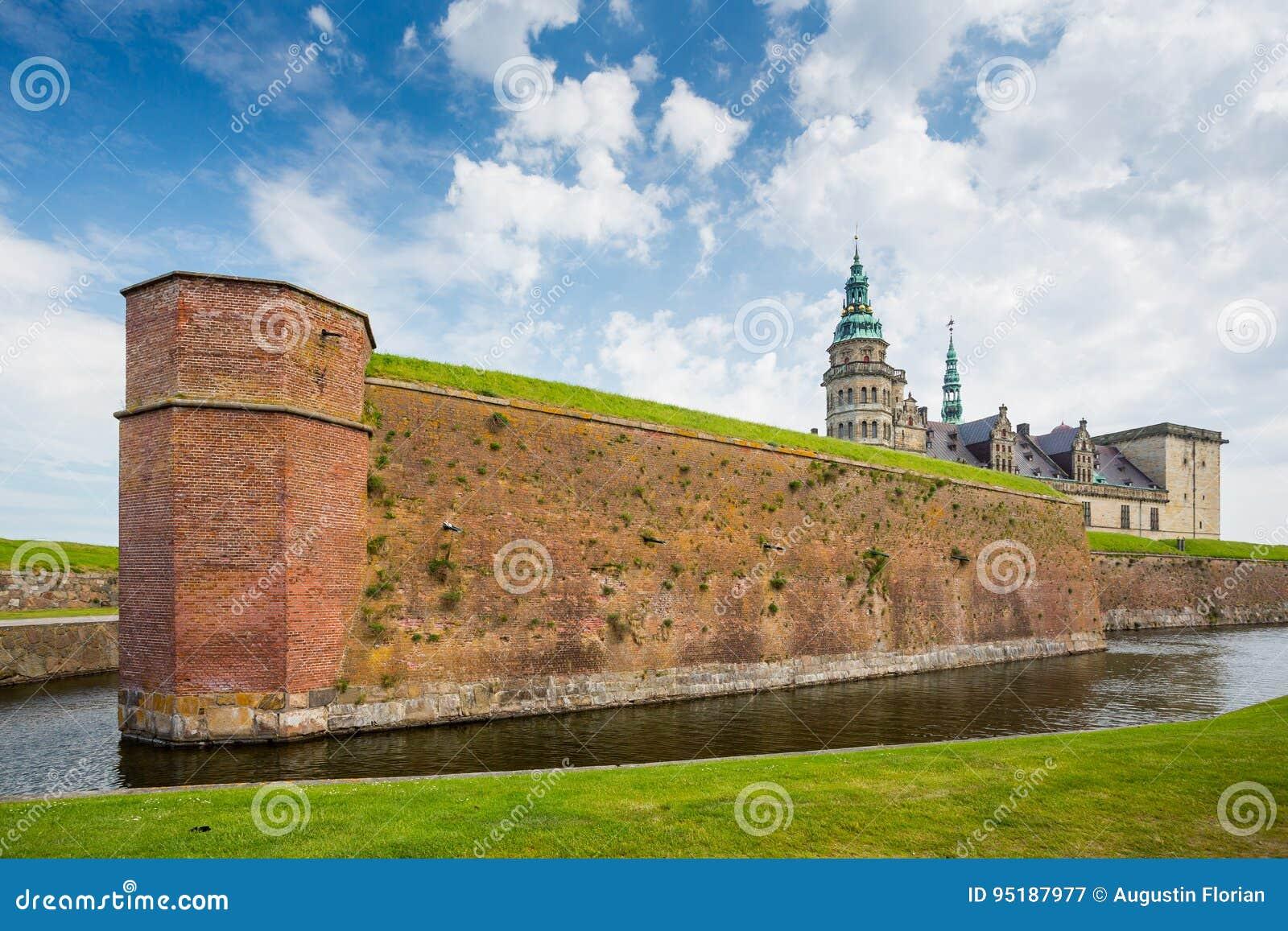 Helsingor χωριουδακιών της Δανίας κάστρων kronborg θρυλική θέση