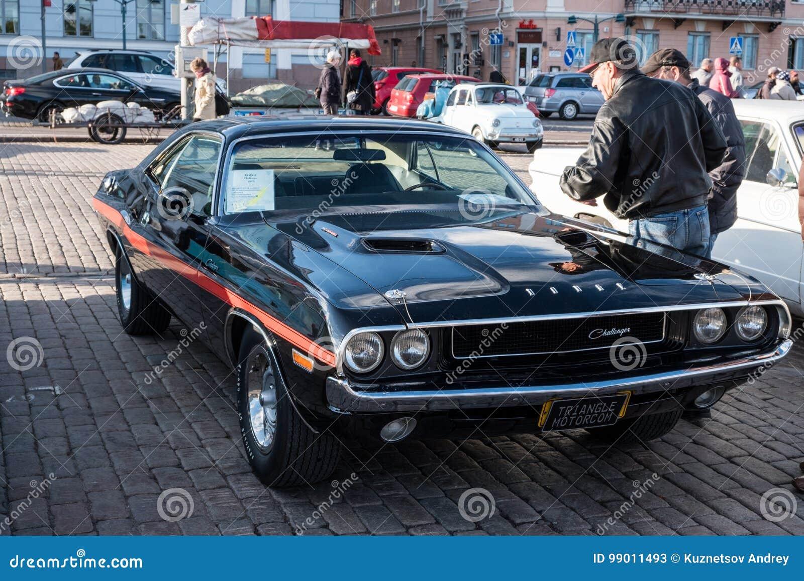Helsinki Finland Old Car Dodge Challenger Editorial Stock Photo