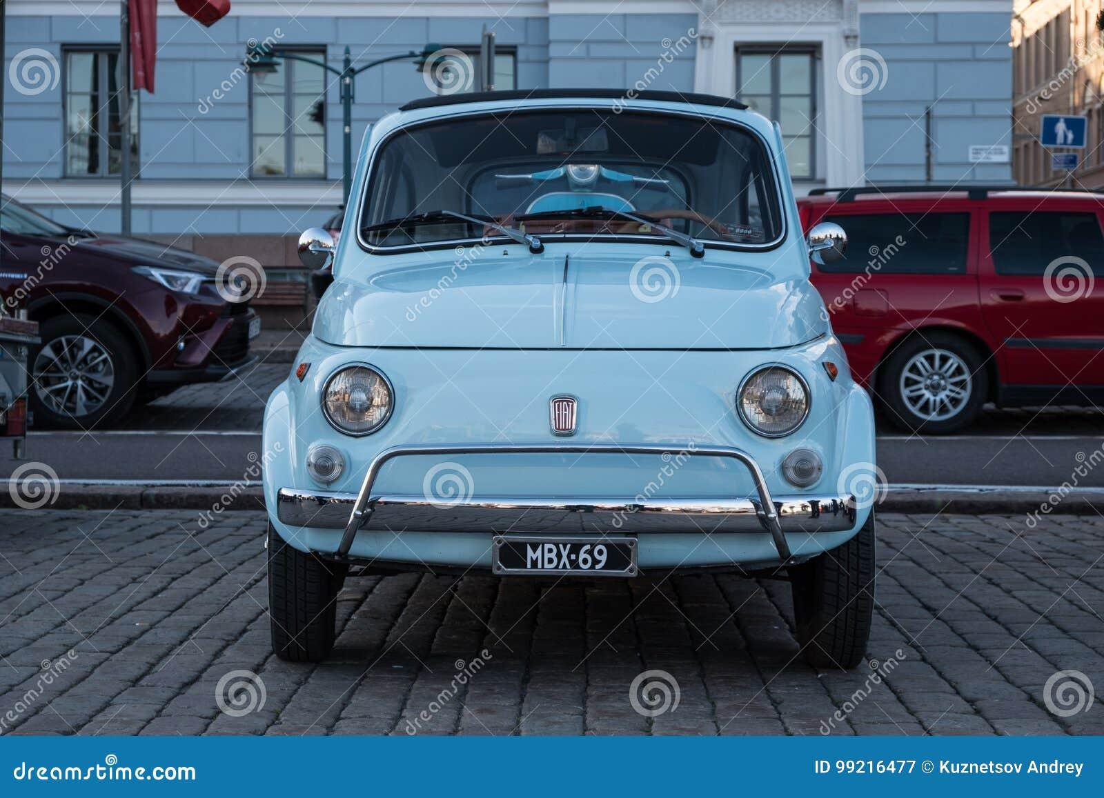 Helsinki Finland Old Car Fiat 500l Editorial Photography Image Of Retro Festival 99216477