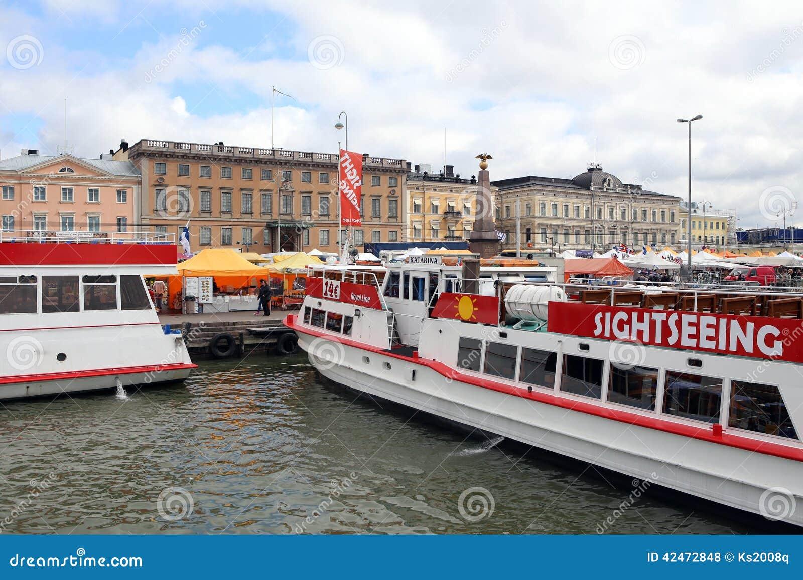 Helsinki, Finnland Fähren im Seehafen