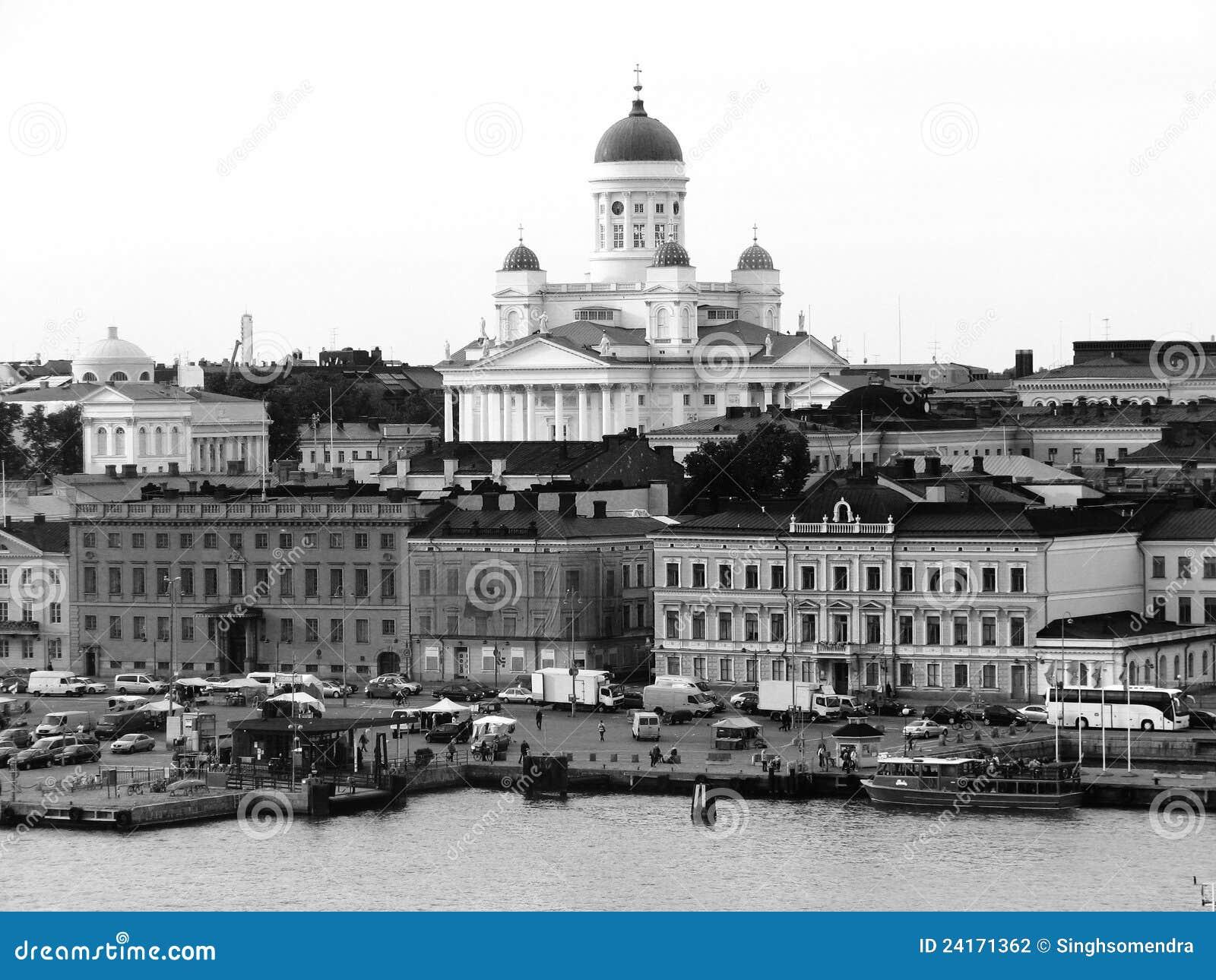 Helsinki-Hafen Schwarzweiss