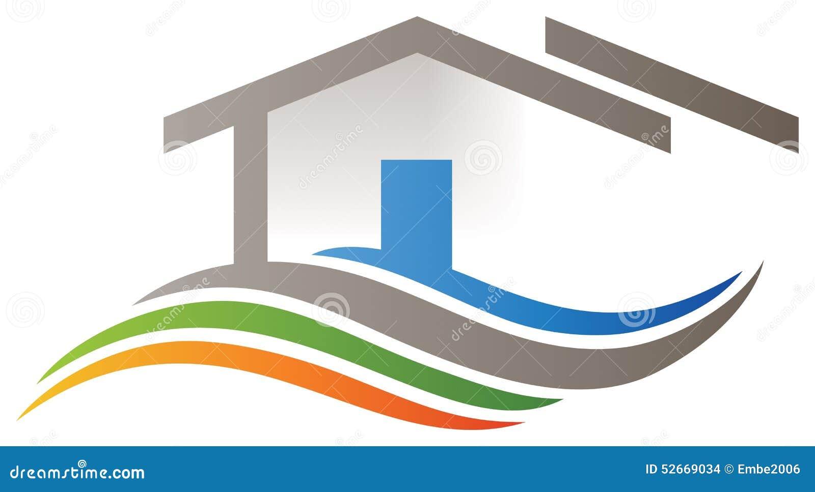 Hem- logo för hus
