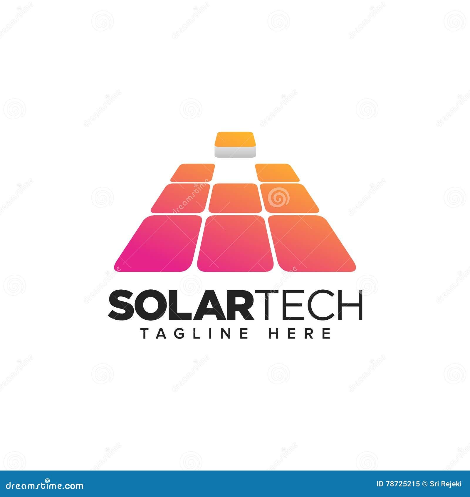 Hem- solpanel, logo för förnybara energikällorteknologi