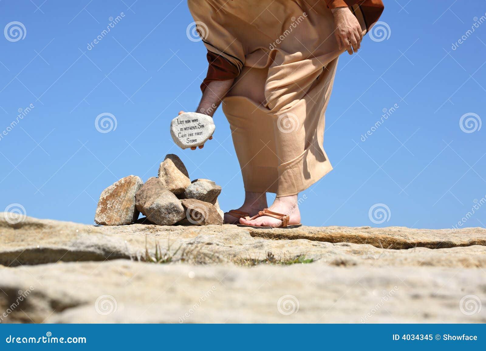 Hem zonder zonde gegoten eerste steen