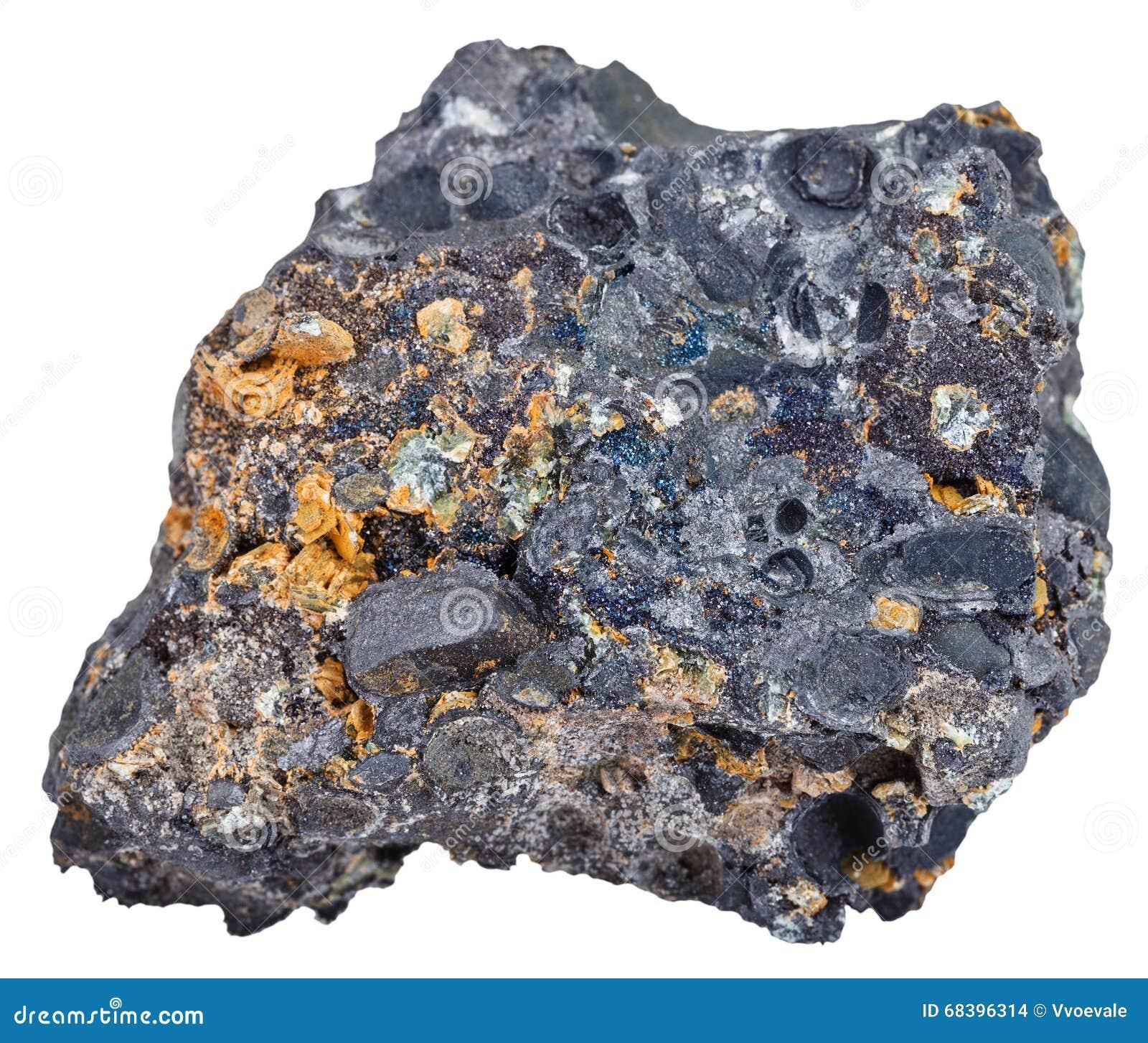 f0a23567f12 Hematita (minério De Ferro) Com Cristais De Magnetita Foto de Stock ...