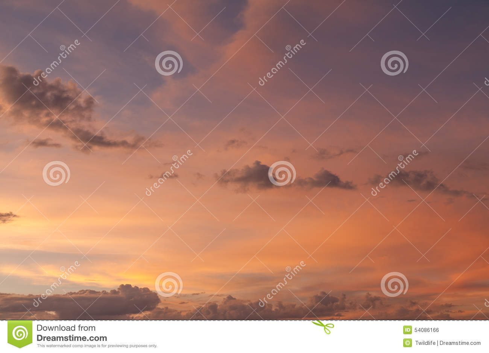 Hemel bij zonsondergang